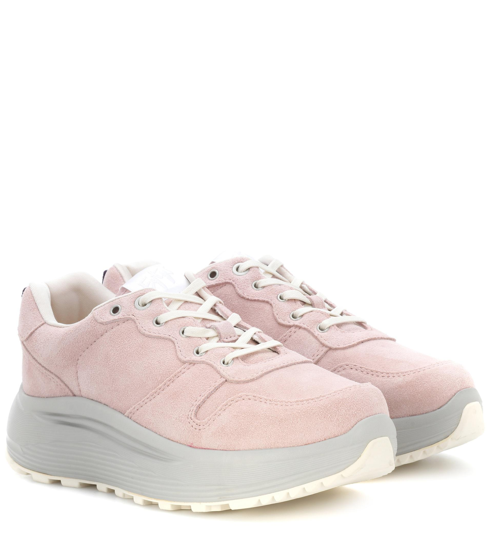 b35a590a84 Eytys Jet Combo Suede Sneakers in Pink - Lyst