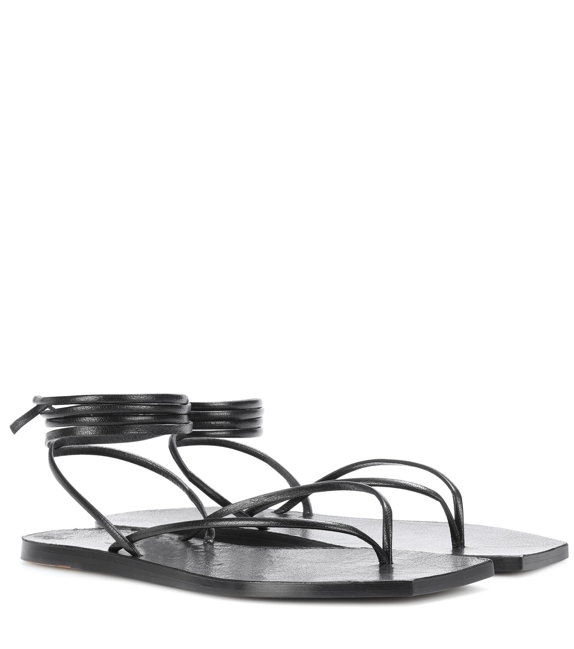 Rick Owens Tangle II leather sandals discount wholesale price tumblr outlet how much amazon online latest for sale JD1Ywvjc