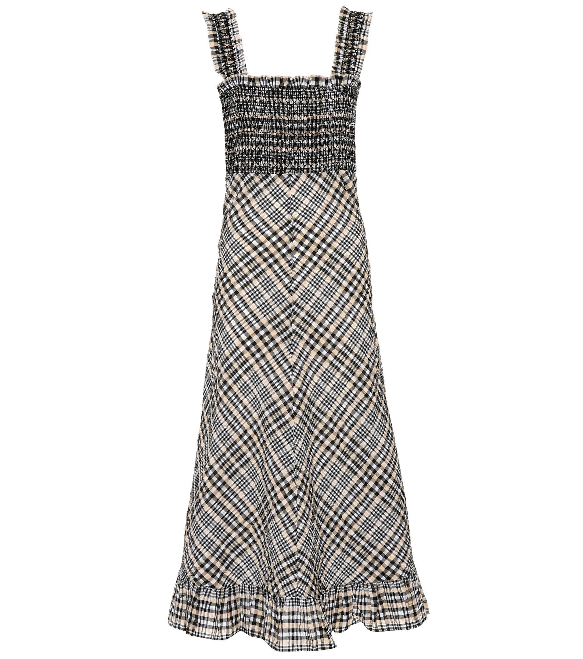 a9c59902 Lyst - Ganni Charron Cotton-blend Dress in Gray