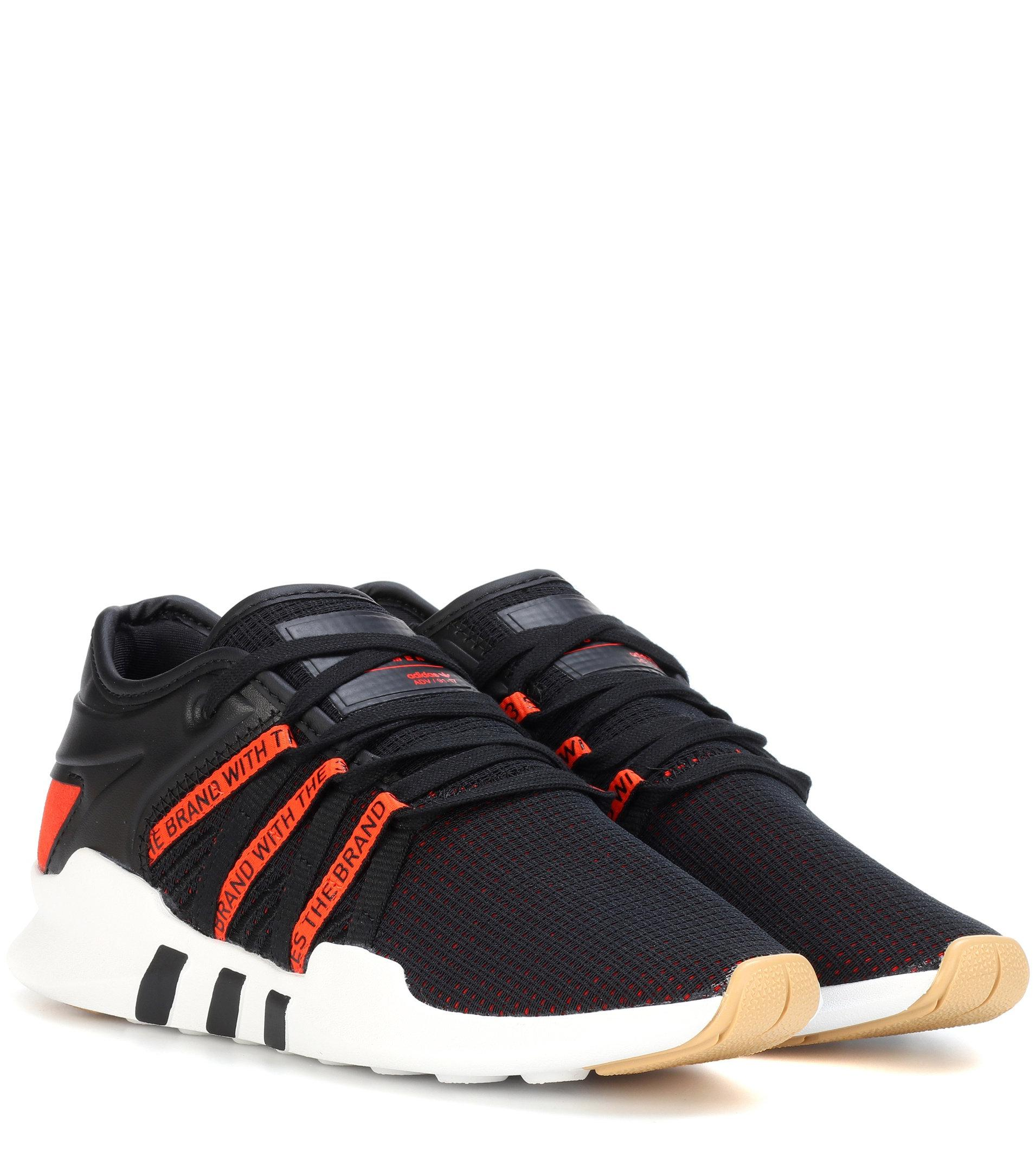 adidas originals eqt racing adv sneakers in black and white