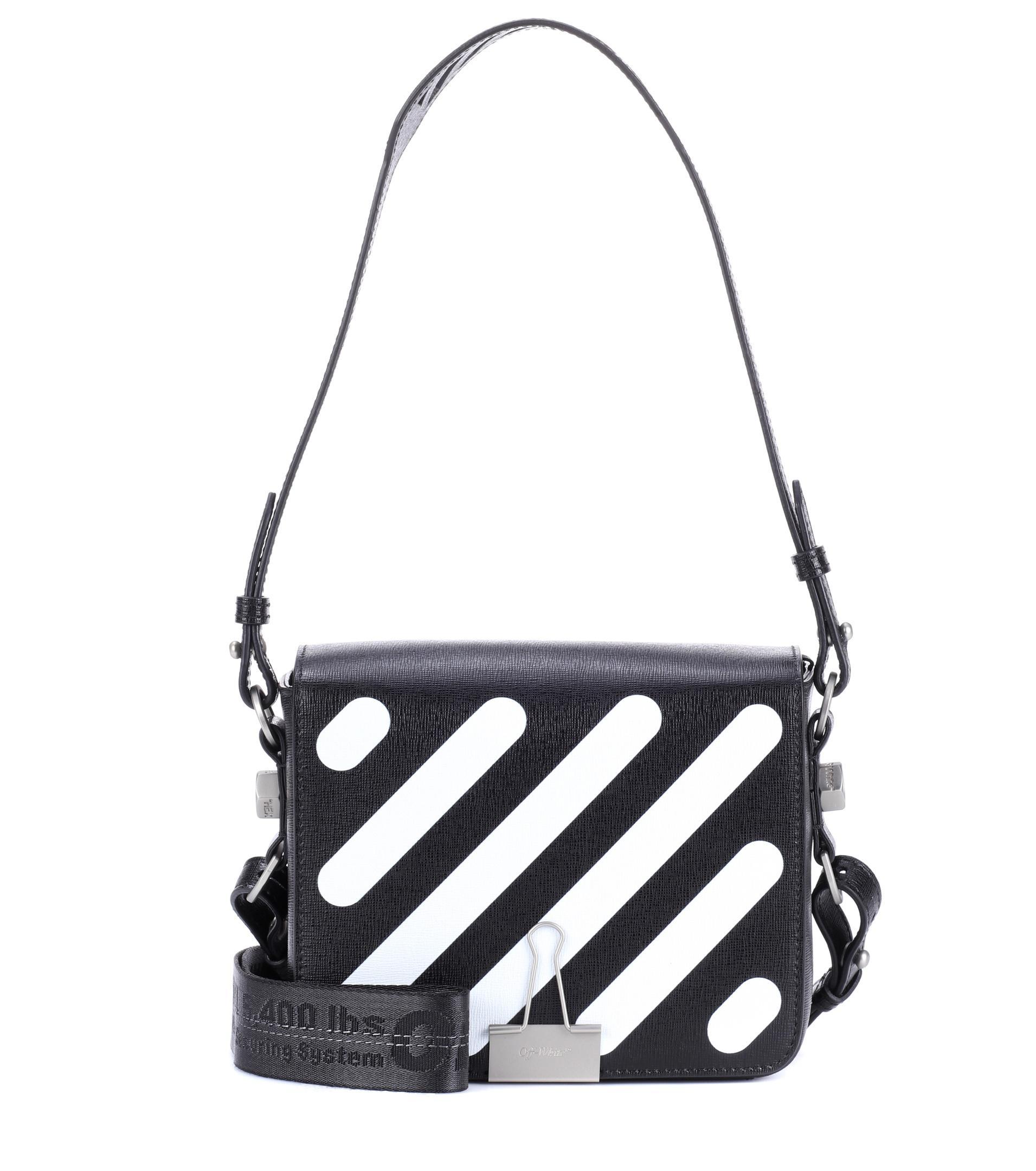 Lyst - Off-White c o Virgil Abloh Binder Clip Leather Shoulder Bag ... 6691eff375c2c
