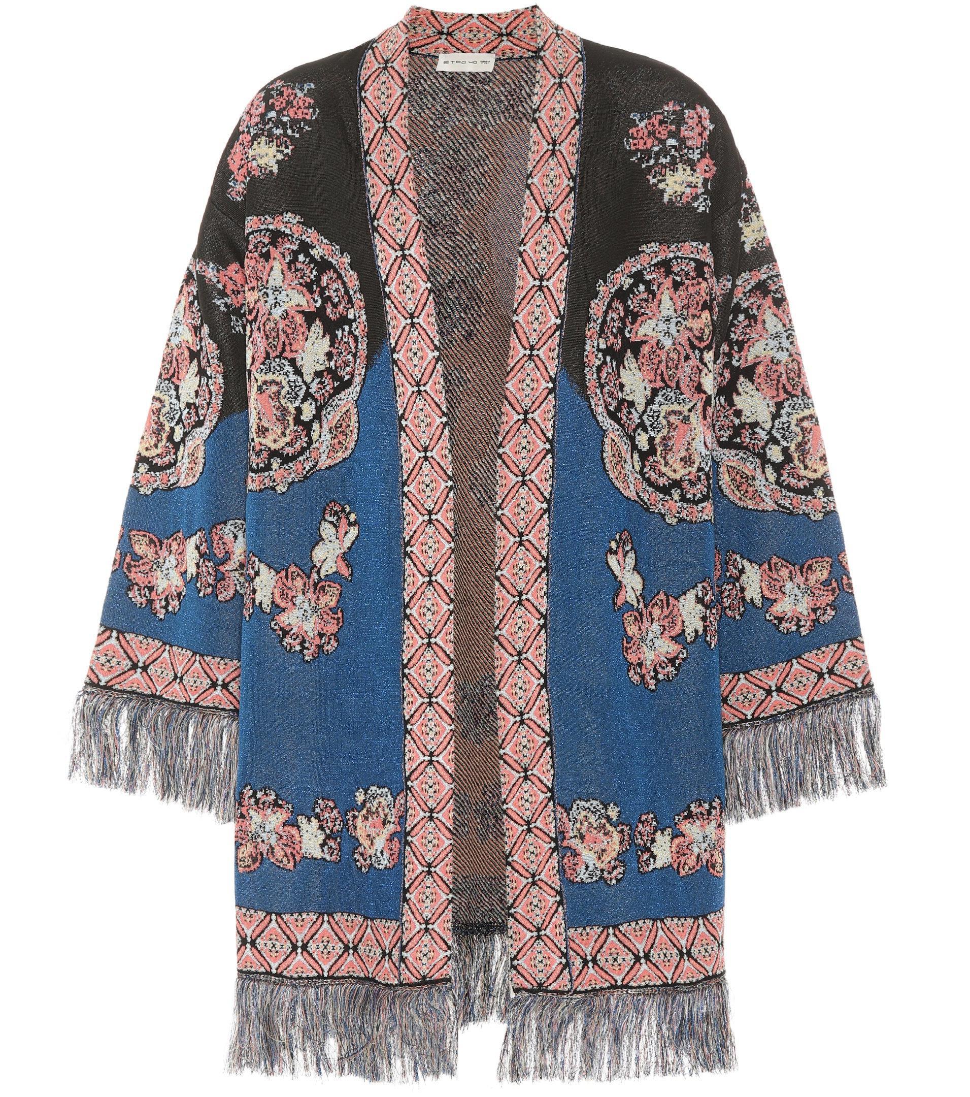 Fringed jacquard cardigan Etro Buy Cheap For Nice 3U5QHc6bRi