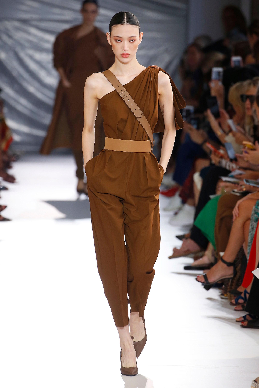 dd3dcbf938d Max Mara - Brown Avola Cotton Poplin Jumpsuit - Lyst. View fullscreen