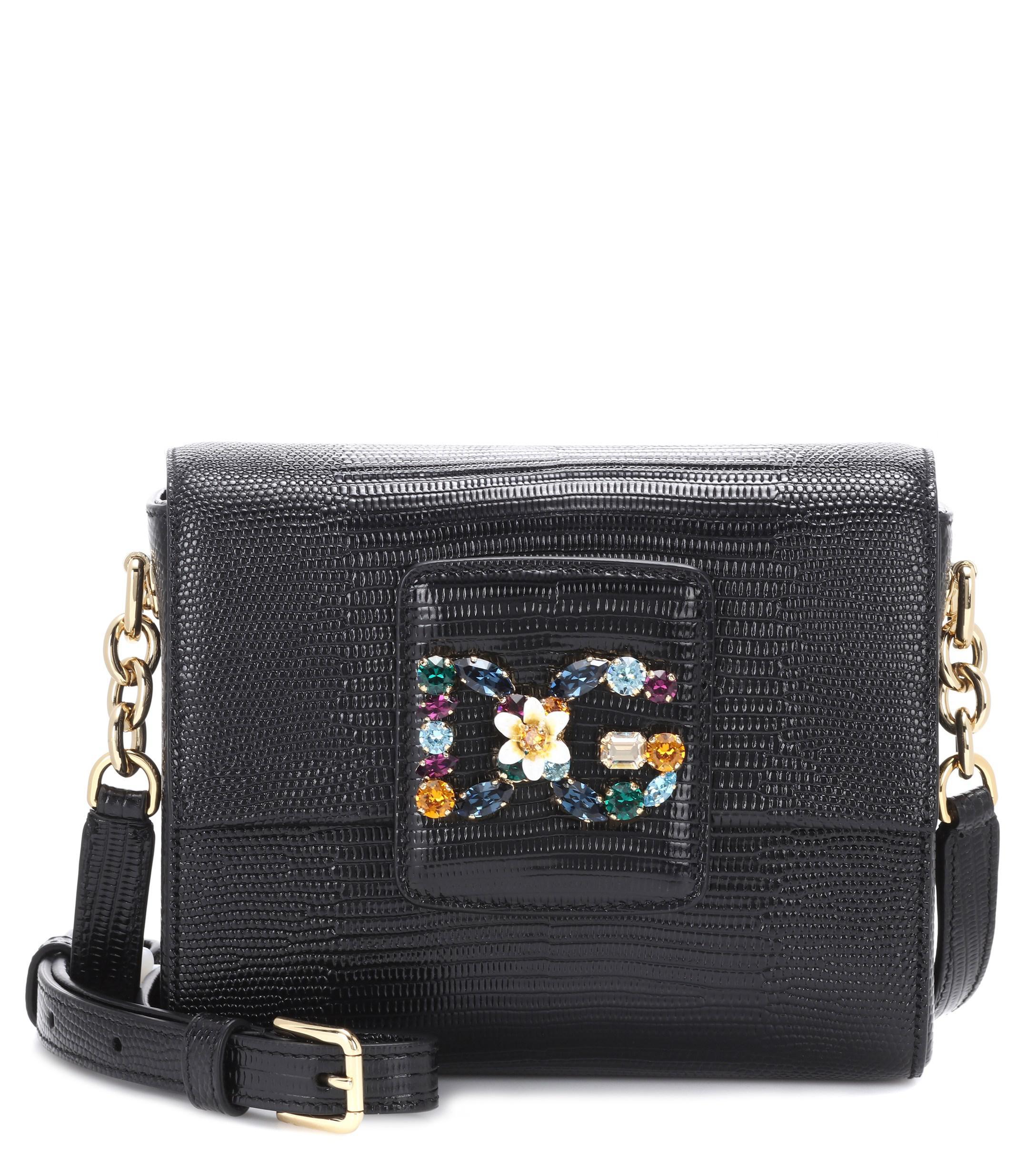 ac6a5c7c75 Lyst - Dolce   Gabbana Dg Millennials Mini Leather Shoulder Bag in Black