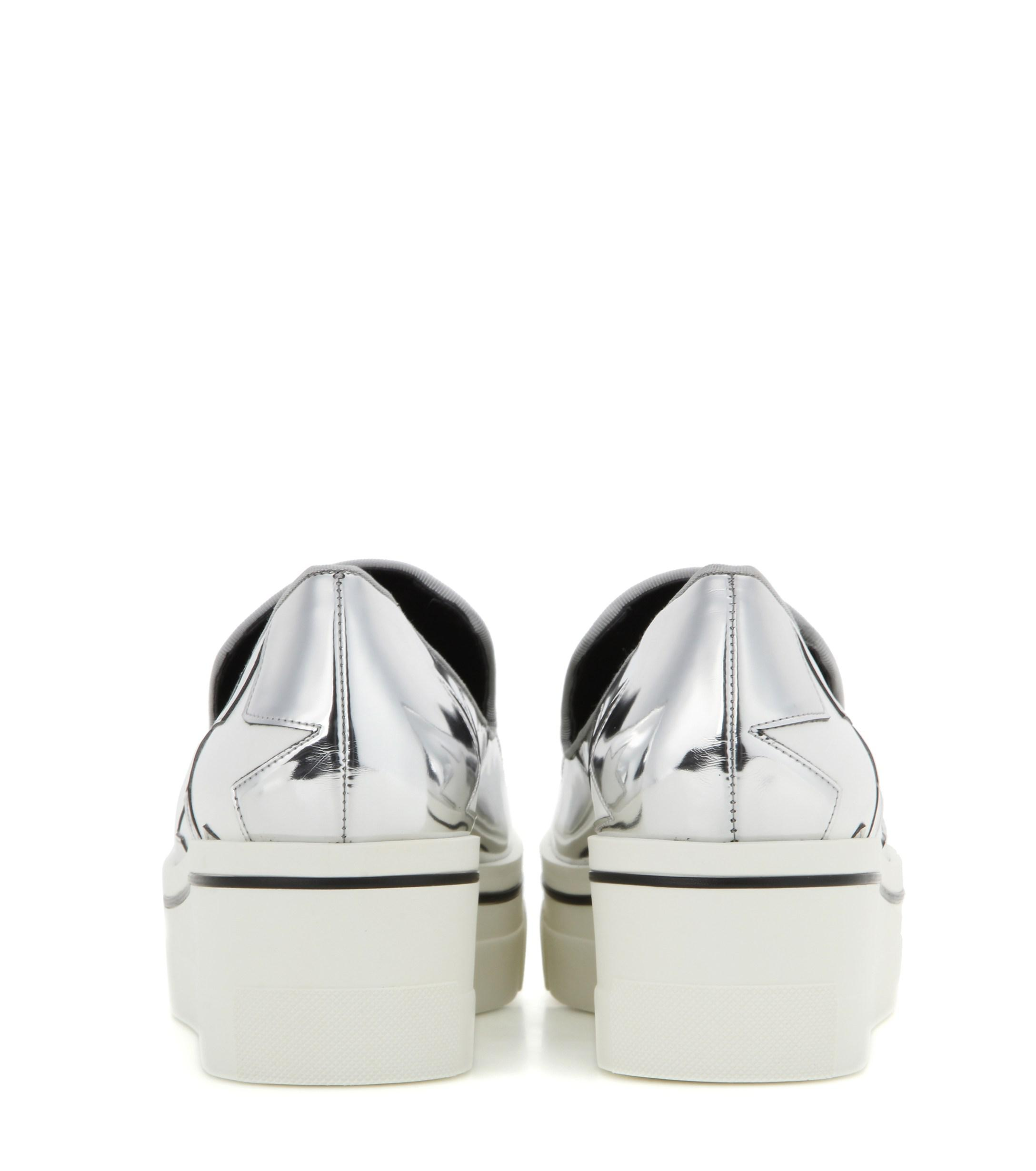4ce923c0d3e Lyst - Stella McCartney Star Binx Metallic Platform Loafers in Metallic