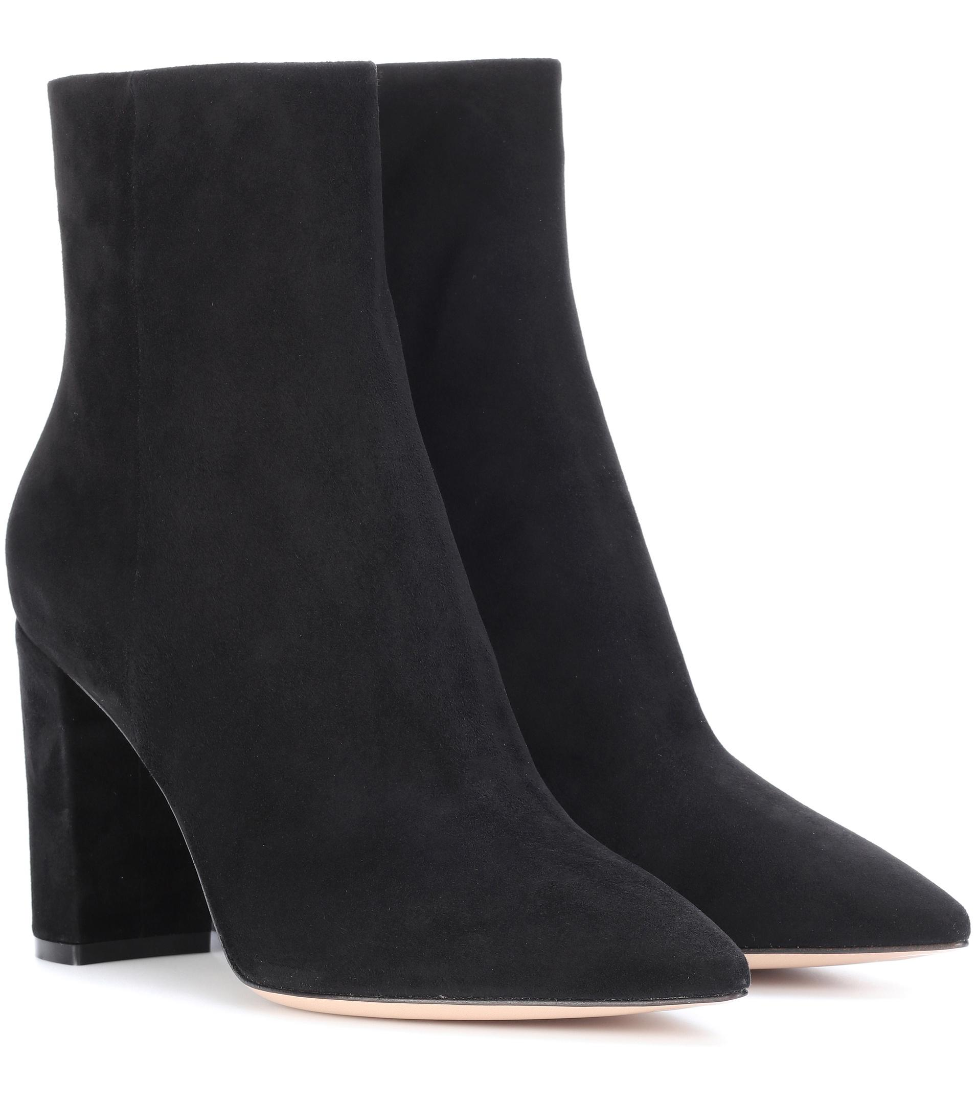 Gianvito Rossi Elasticized leather ankle boots