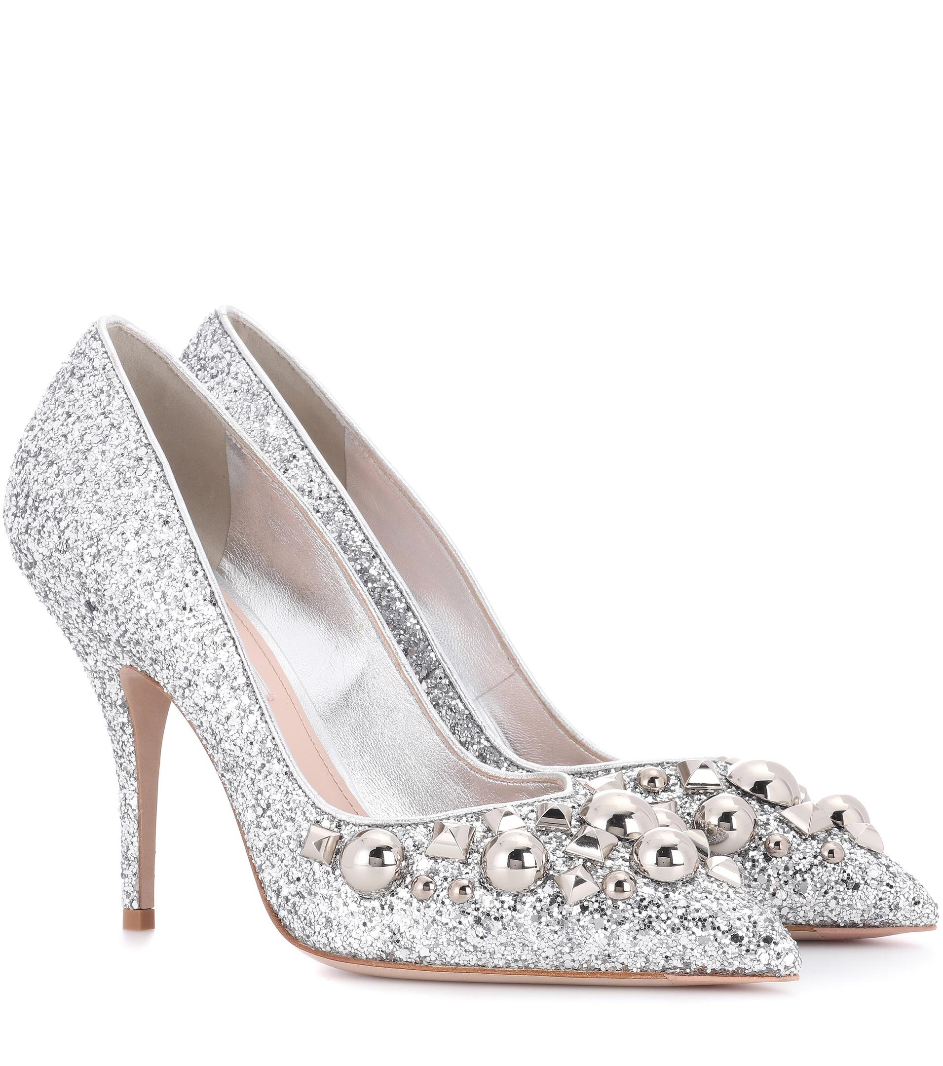 Buy Miu Miu Glitter Shoes