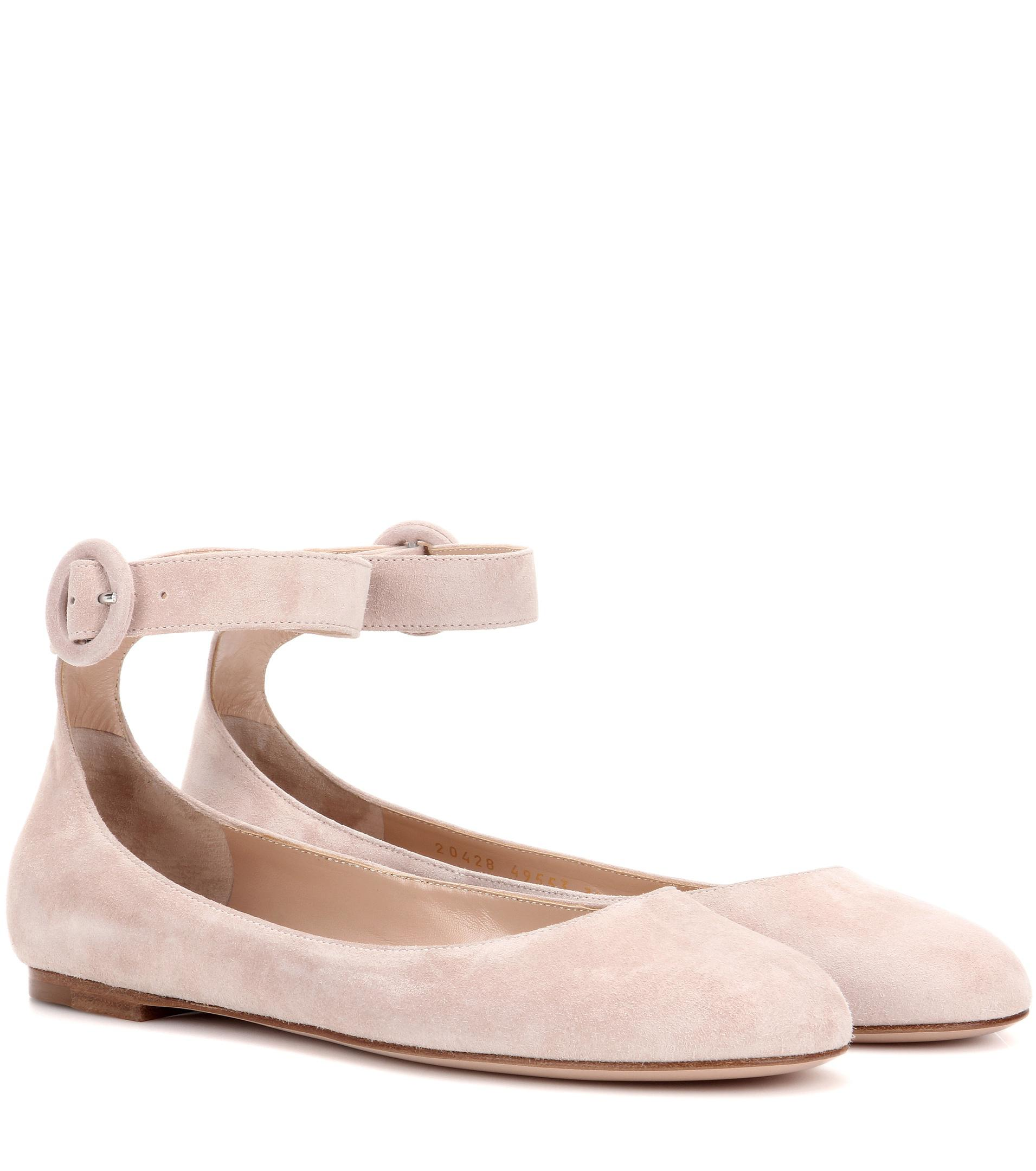 Exclusive to mytheresa.com - Plexi leather and suede ballerinas Gianvito Rossi 0AK4ulT6B
