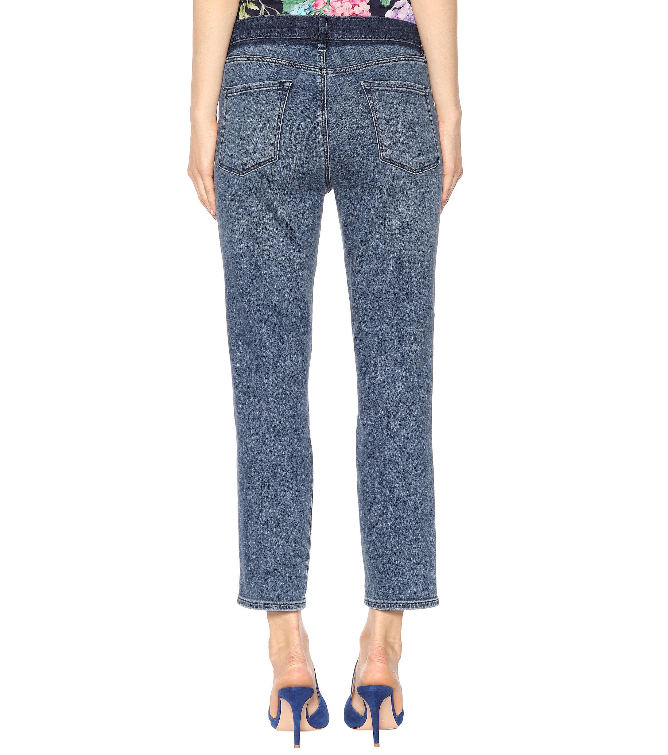 37c347a87a4a J Brand - Blue High Rise Crop Ruby Jeans - Lyst. View fullscreen