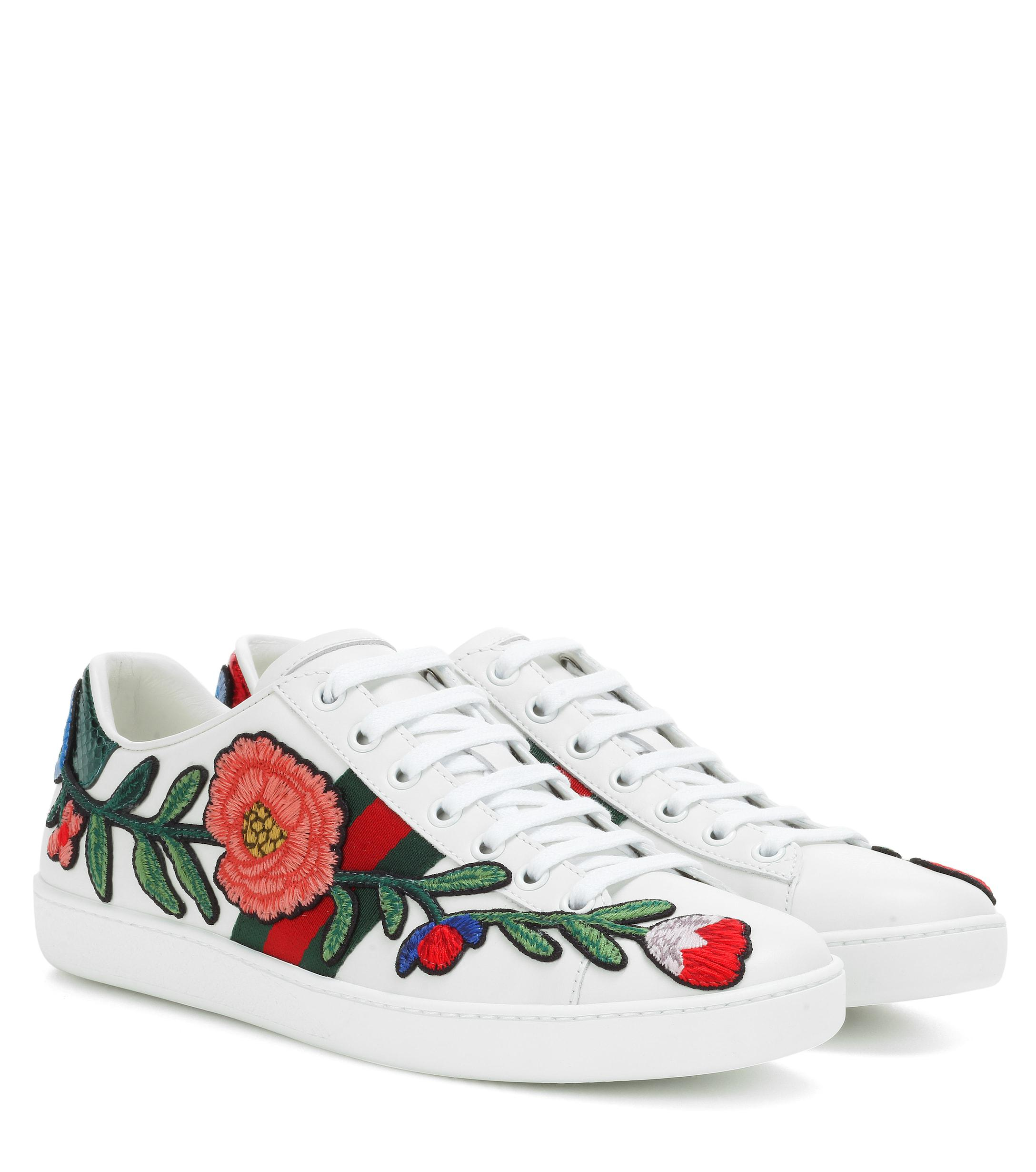 4abdc8bcfe4b Gucci. Women s White Ace Leather Sneakers.  725 From Mytheresa