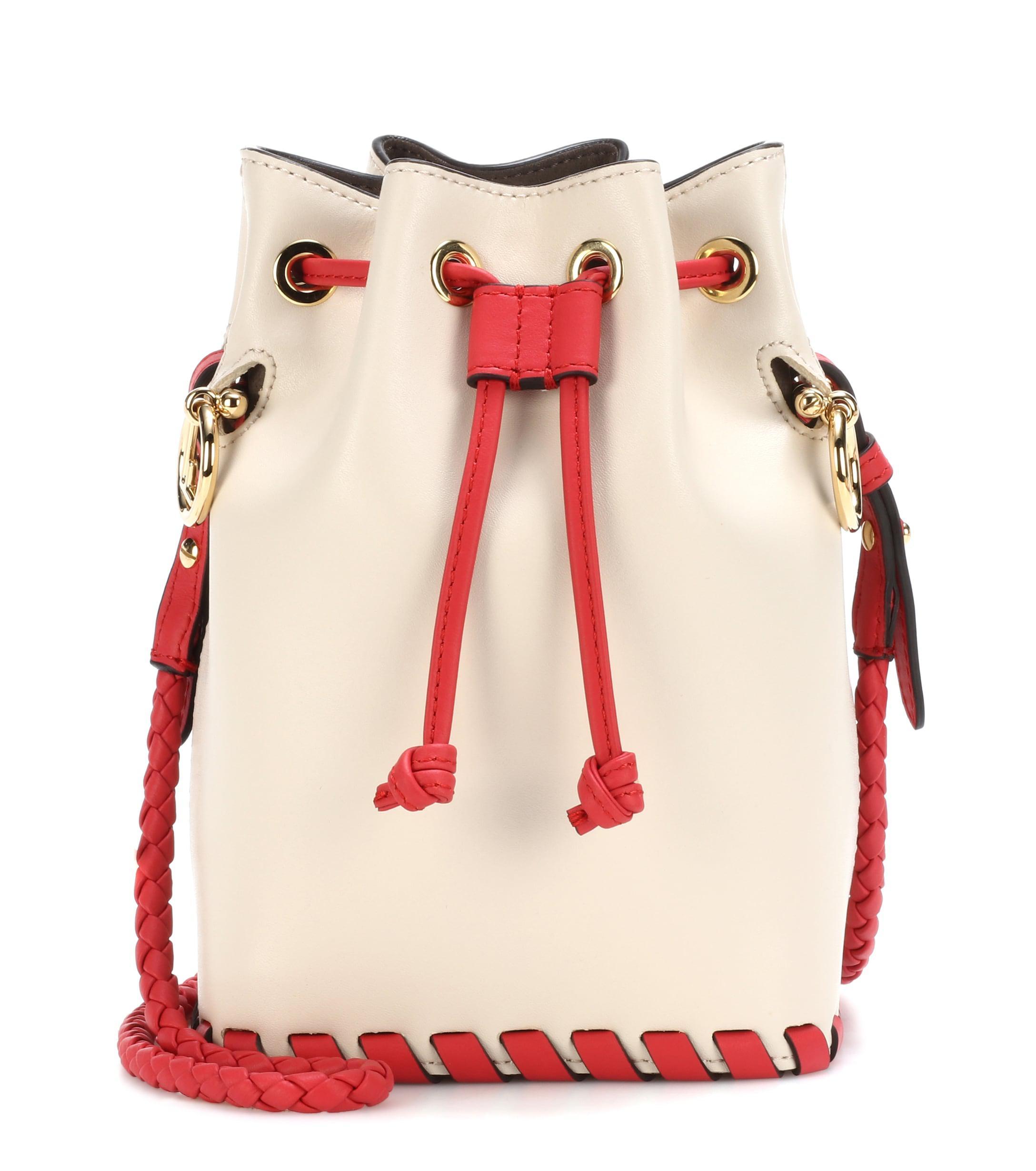 99d812191fd Fendi. Women s Mon Trésor Small Leather Bucket Bag