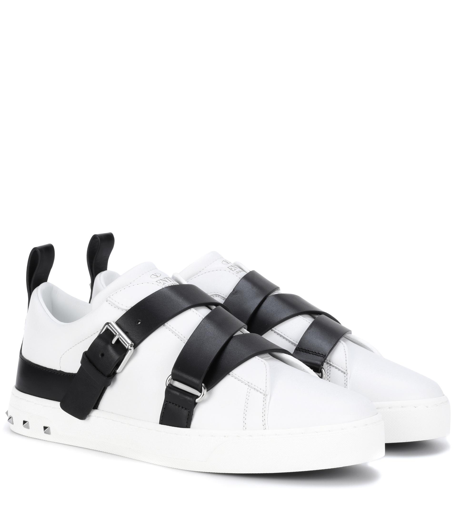 Chaussures De Sport En Cuir Embelli Garavani Valentino sLdCkT