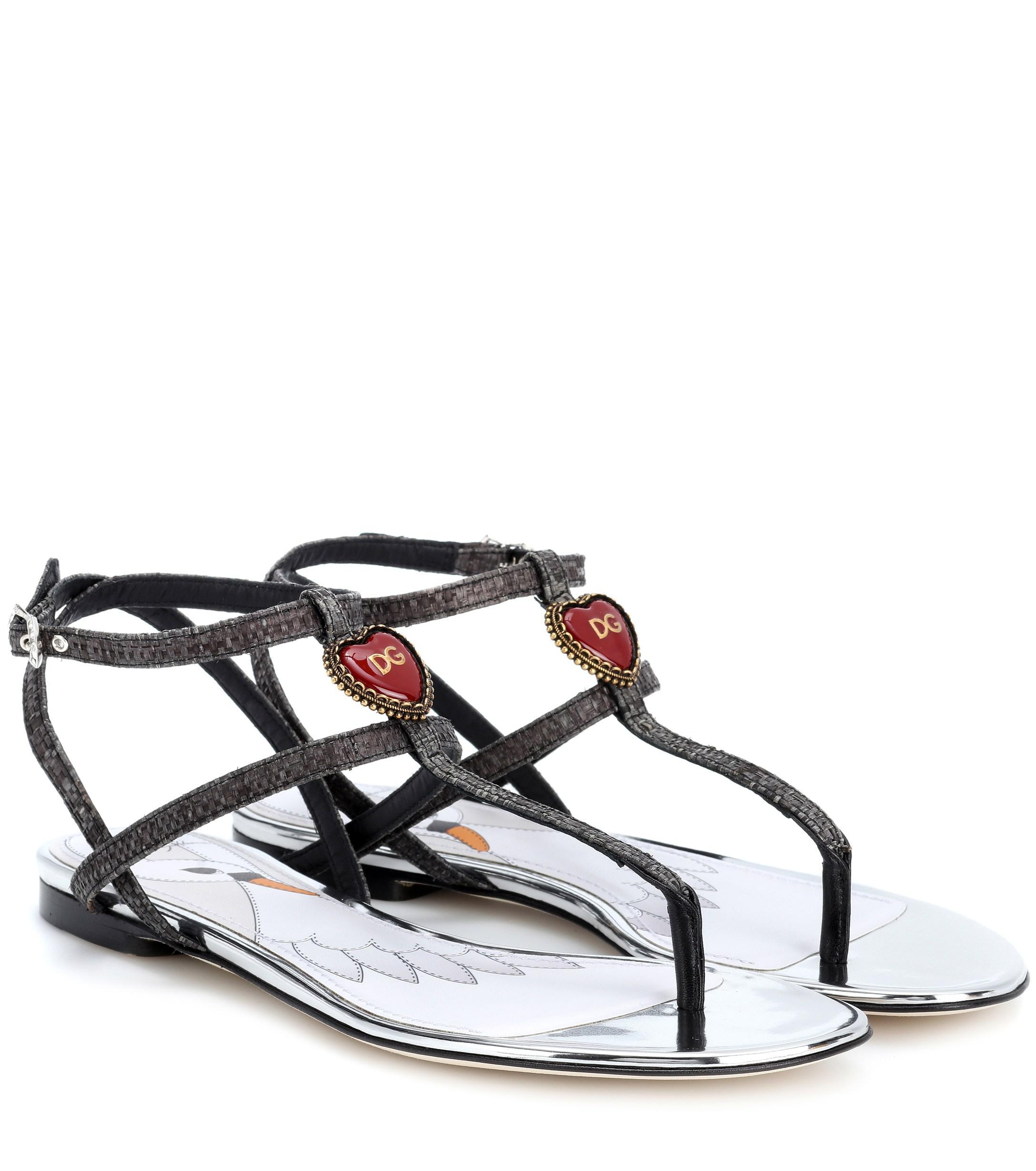 Lyst Adornos Negro Gabbana Con De Dolceamp; Sandalias Color UzpqMVS