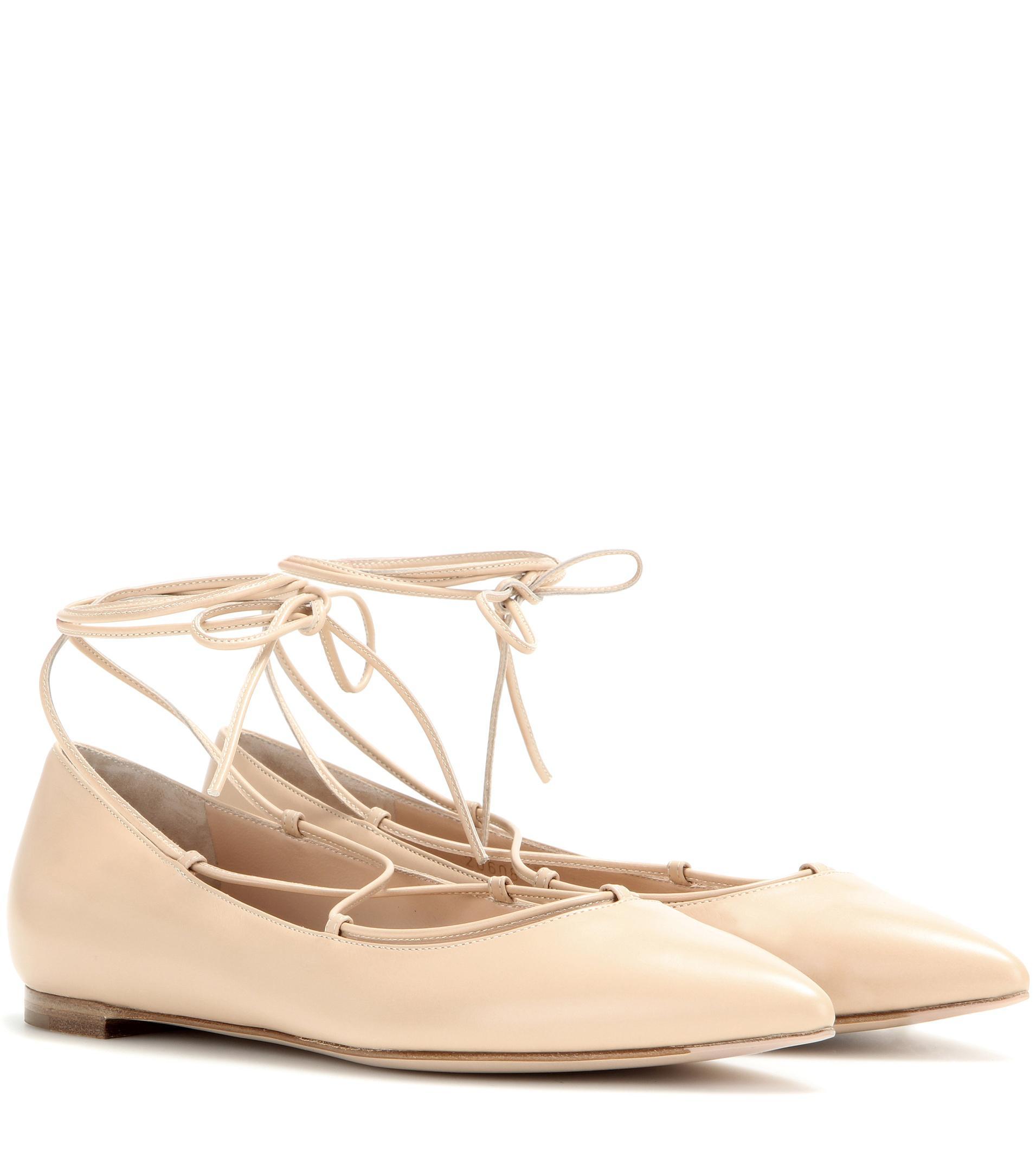 Gianvito Rossi Leather ballerinas Nicekicks Cheap Price NURMhr3LB