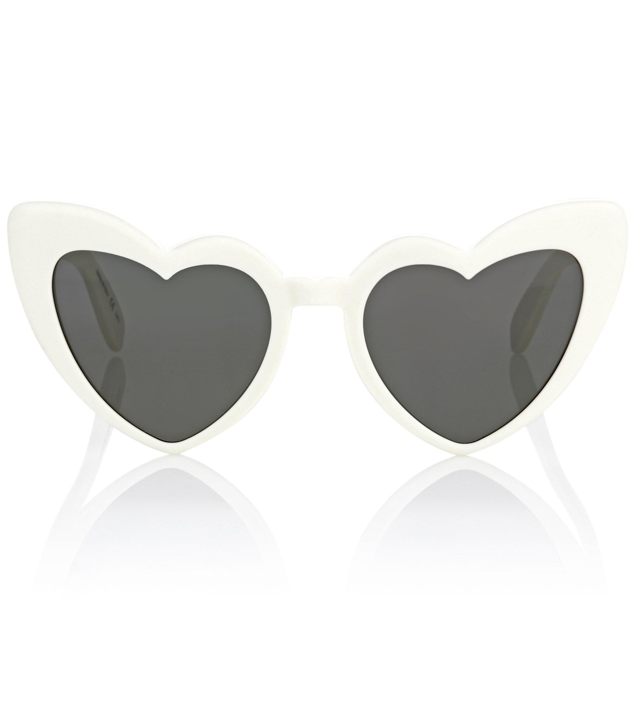 00bb150e3c Saint Laurent Heart-shaped Sunglasses in White - Lyst