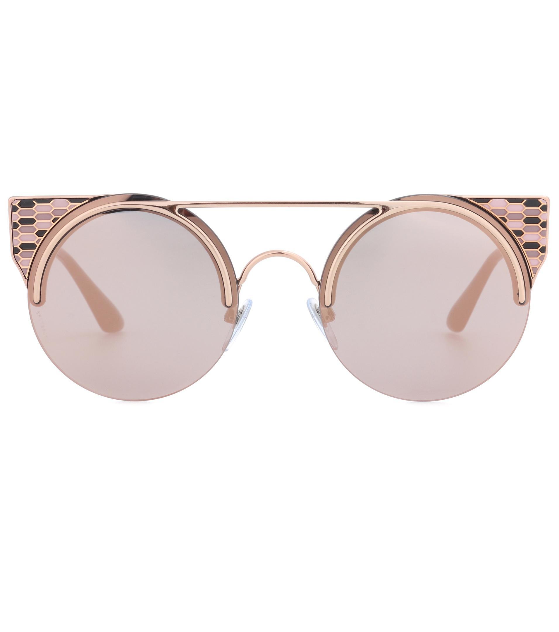 e508fdde7e BVLGARI Serpenti Sunglasses in Metallic - Lyst