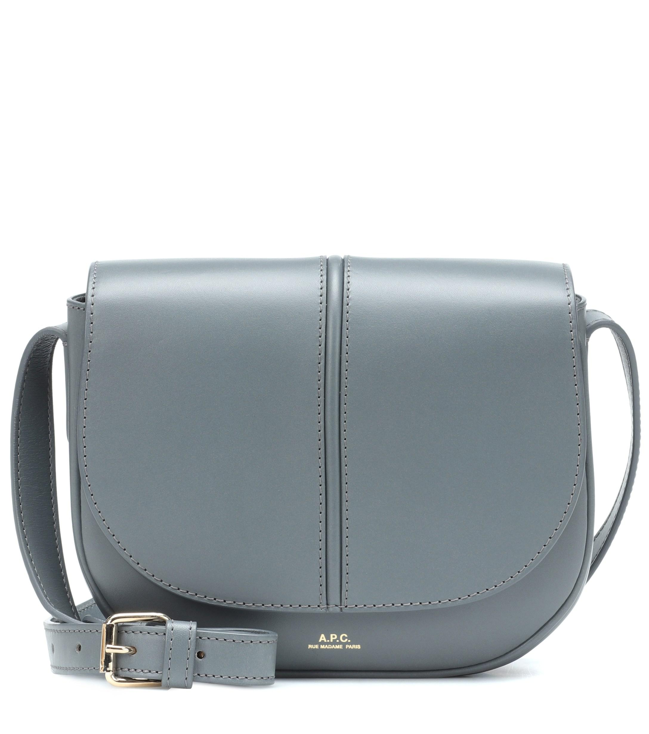A P C Betty Leather Crossbody Bag In Blue Lyst