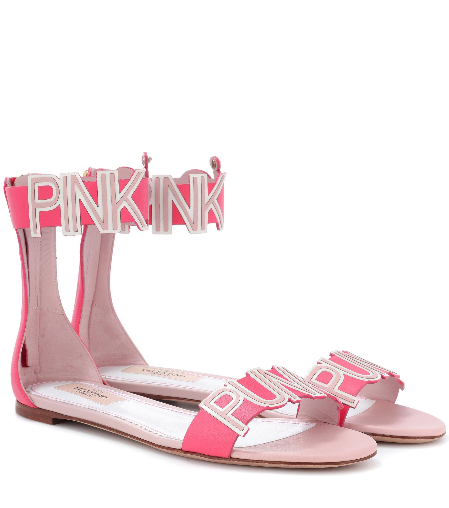 Valentino Garavani Pink Punk sandals - Pink & Purple Valentino 5F3yH