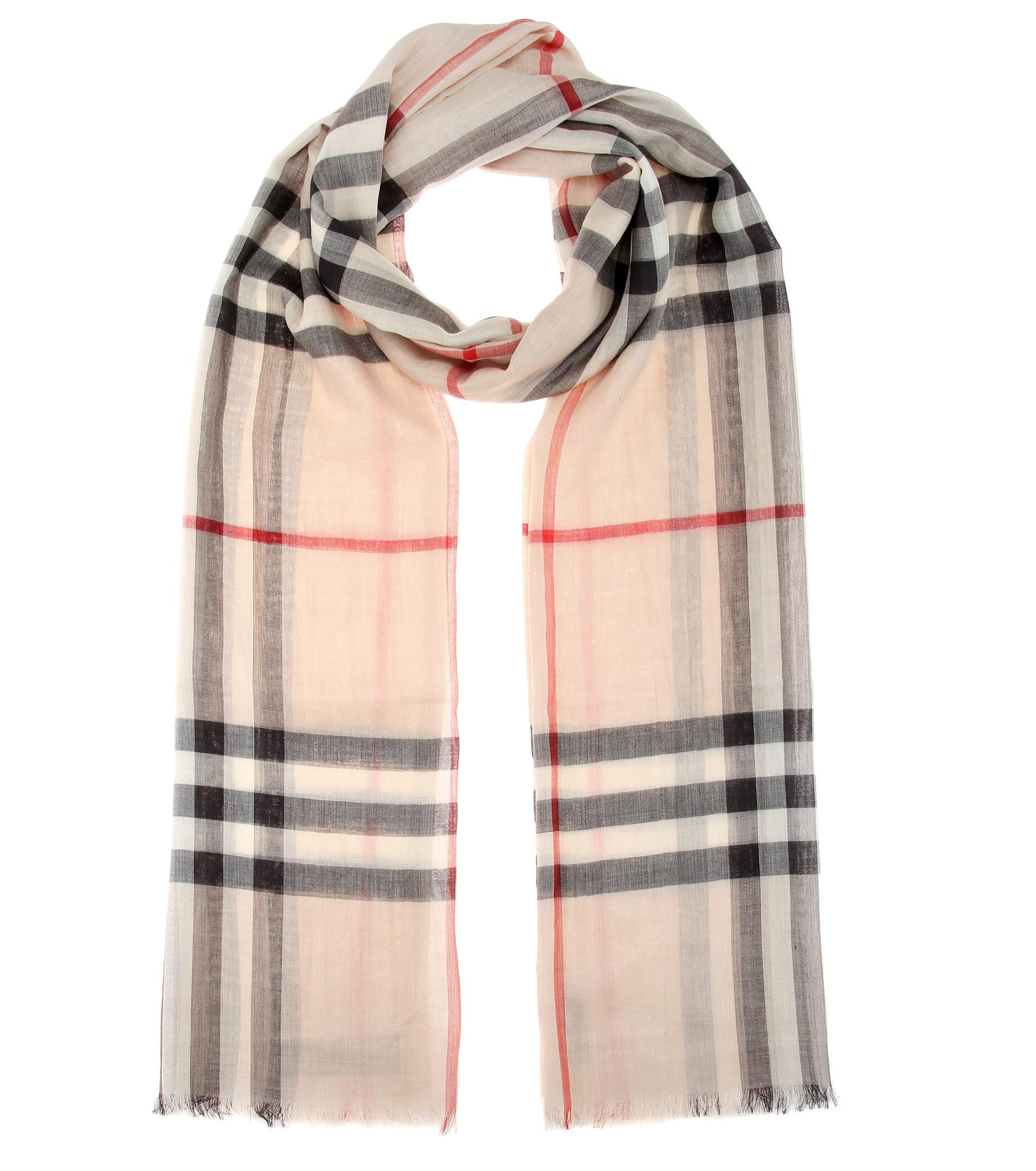 Lyst - Écharpe en laine et soie à carreaux Check Burberry en coloris ... 4b3723c6ae04