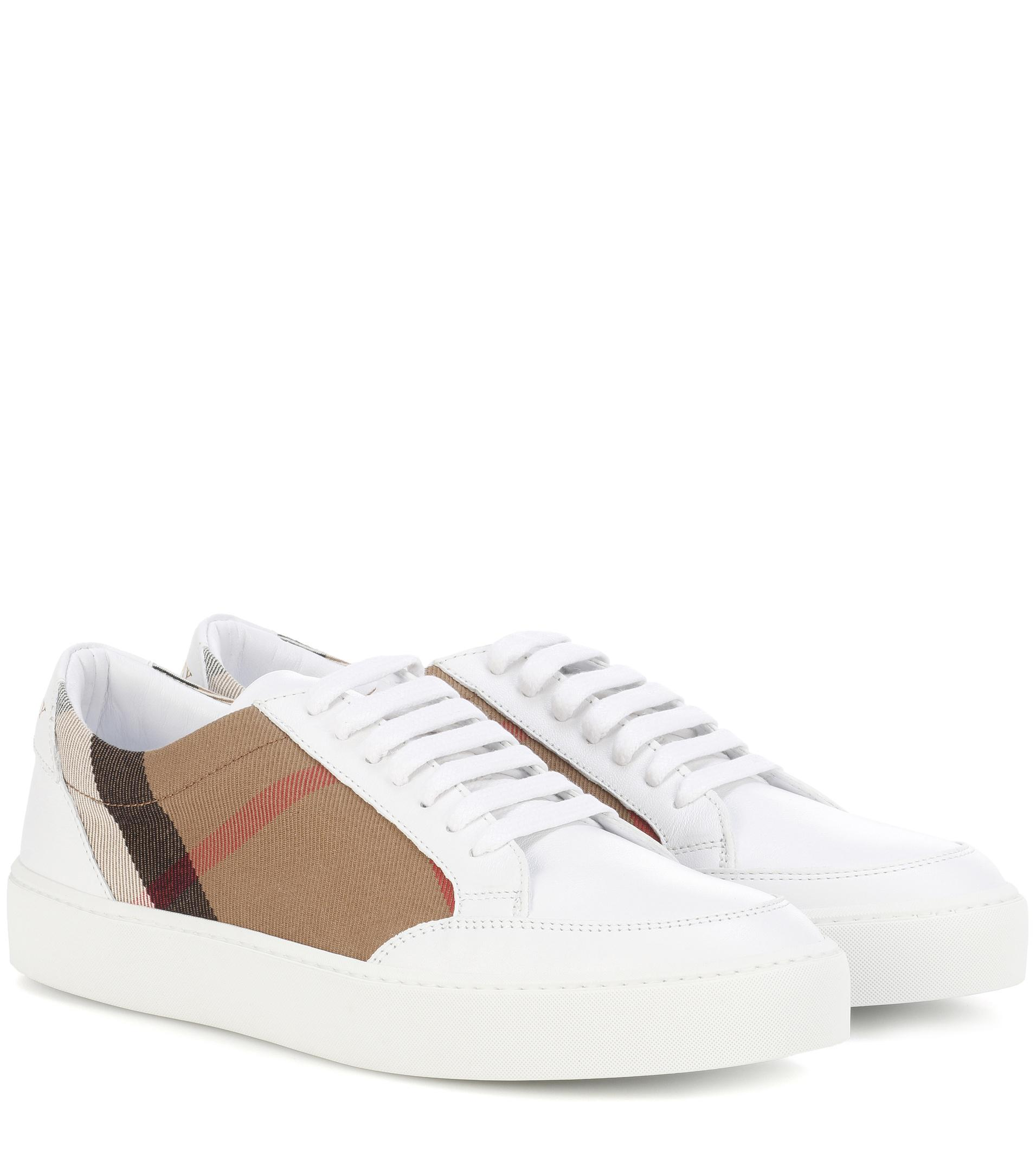 Burberry Leather Salmond Sneakers Free Shipping Order Newest Many Kinds Of bXEOQ