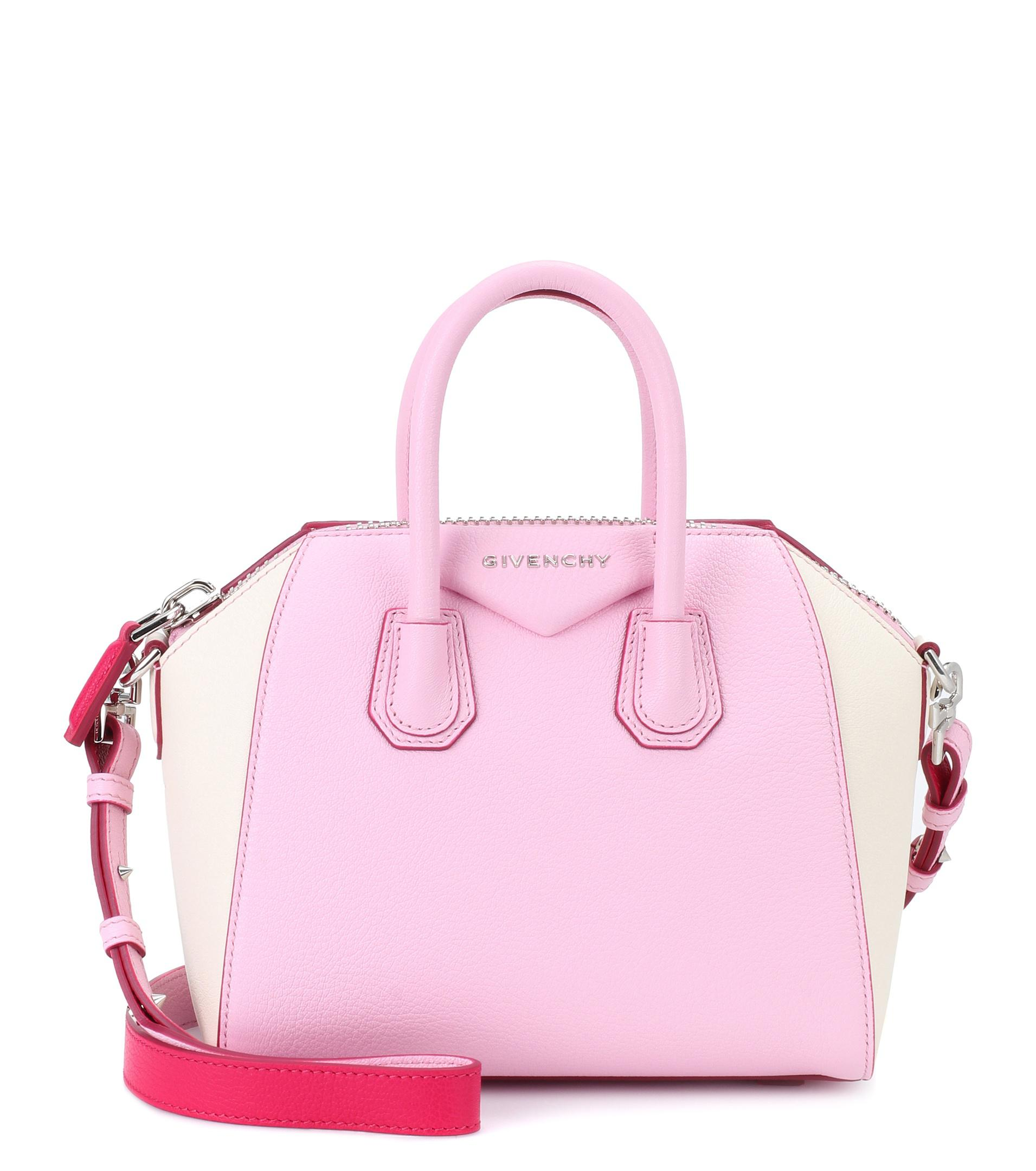 Givenchy Pink Antigona Mini Leather Shoulder Bag Lyst View Fullscreen