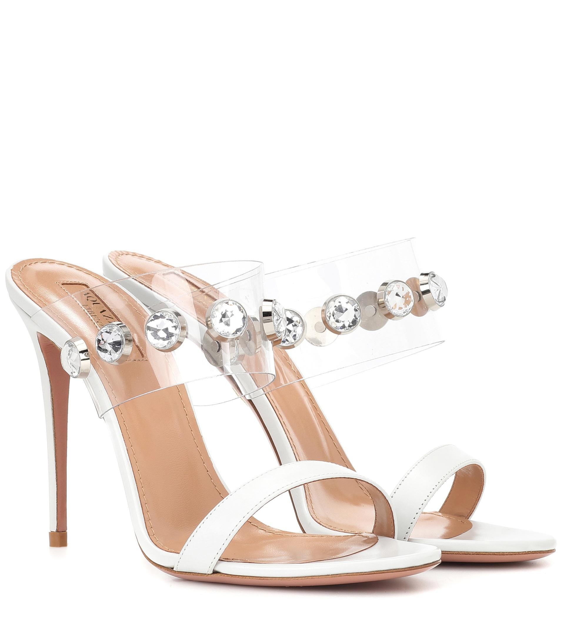 Aquazzura Galaxy 105 crystal-embellished sandals 7SmbEu