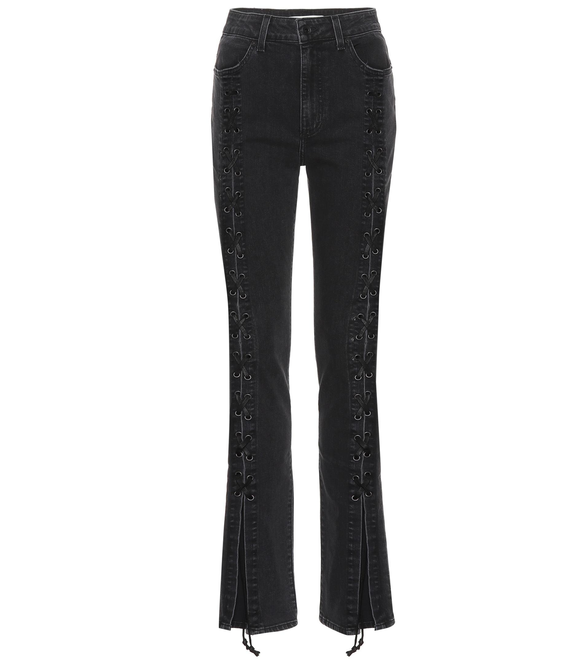 f28debea1c4 Lyst - Jonathan Simkhai Lace-up Jeans in Black