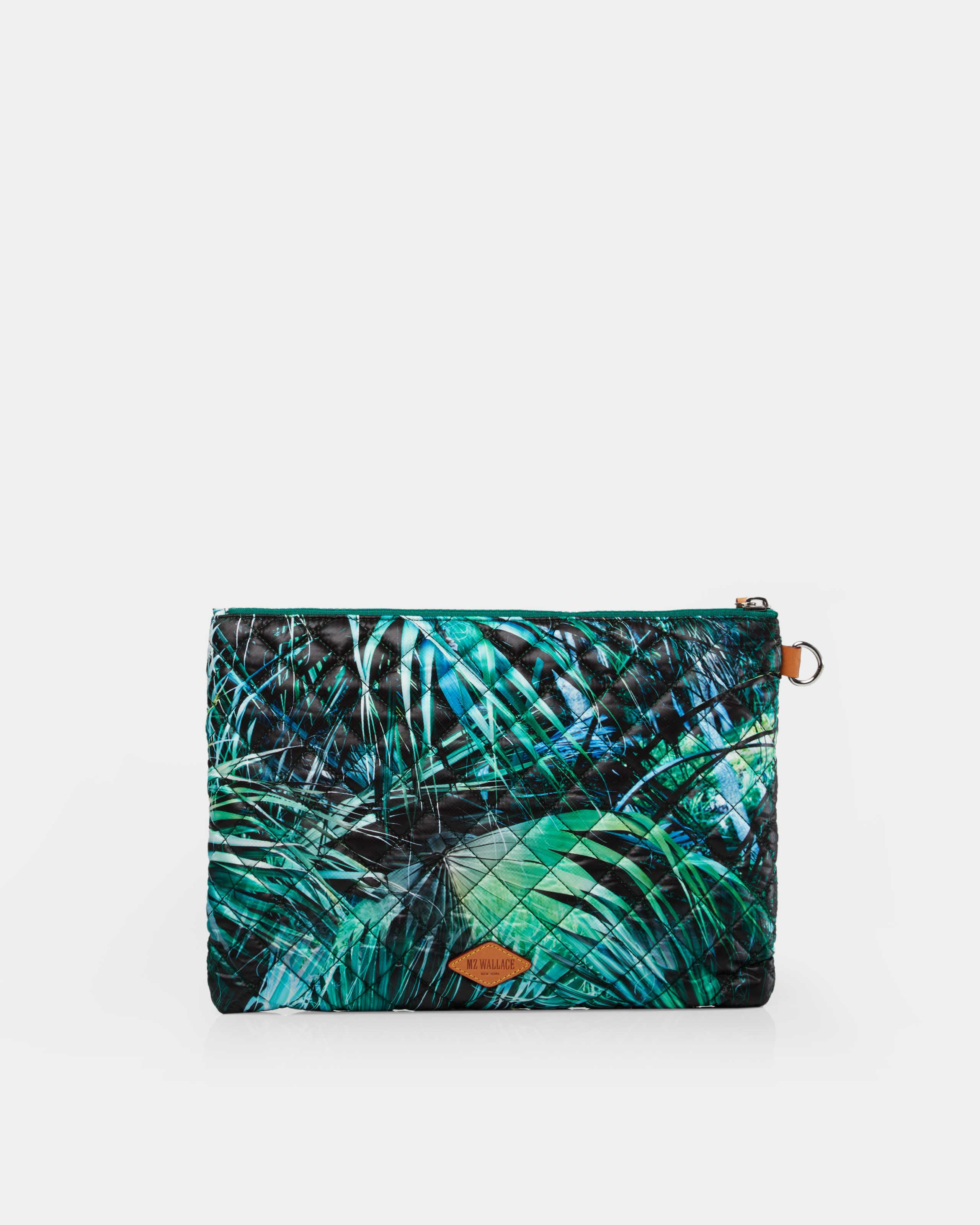 MZ Wallace Paradise Print Metro Pouch in Green - Lyst 930a9c6481b92
