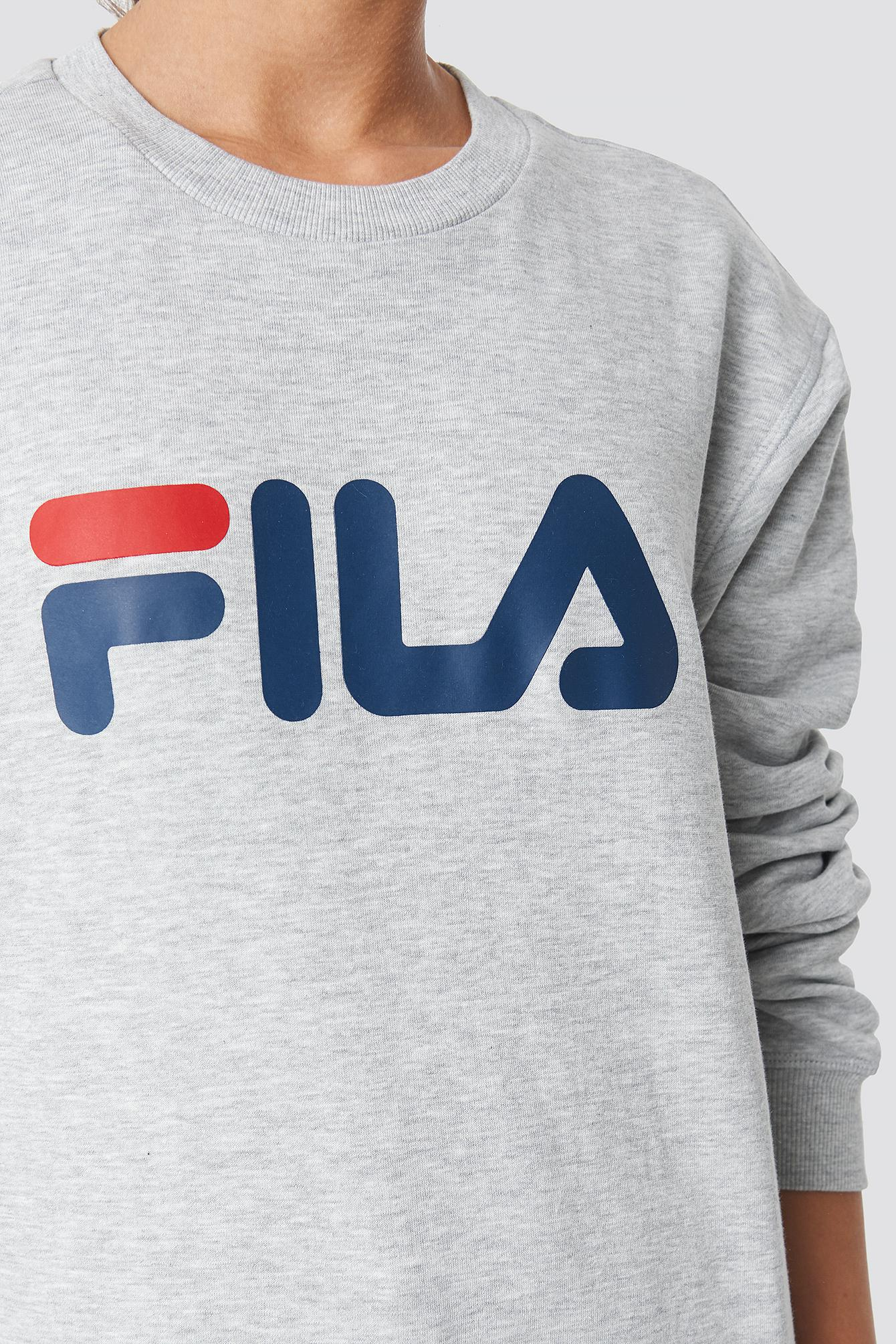 14bfbaa51c80 Fila - Gray Classic Pure Crew Sweat Light Grey Melange - Lyst. View  fullscreen