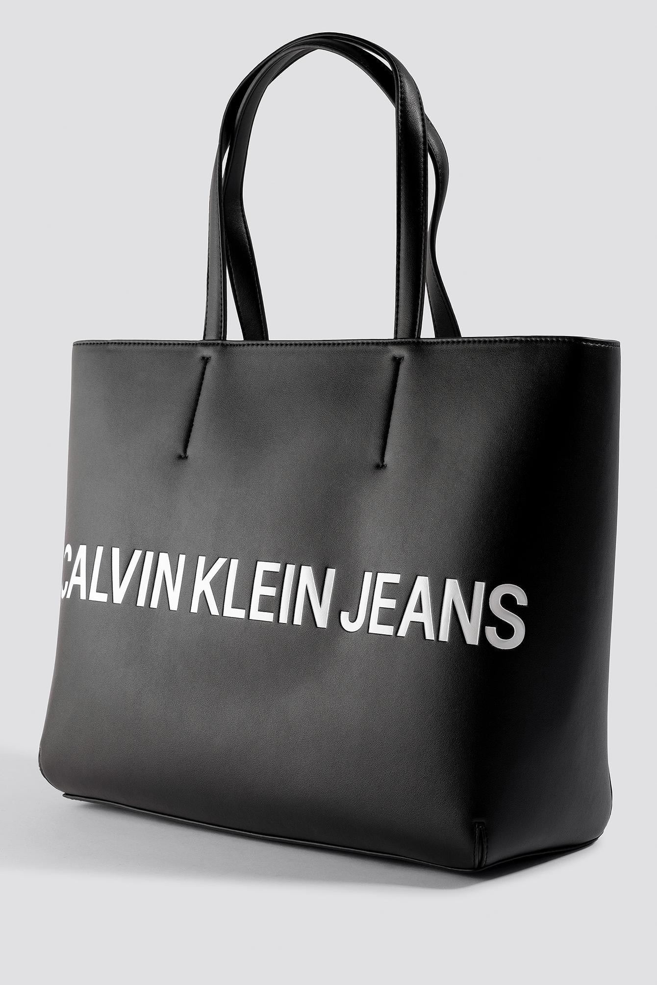 Lyst - Calvin Klein Sculpted Logo Tote Bag Black in Black f2c2bd45a24