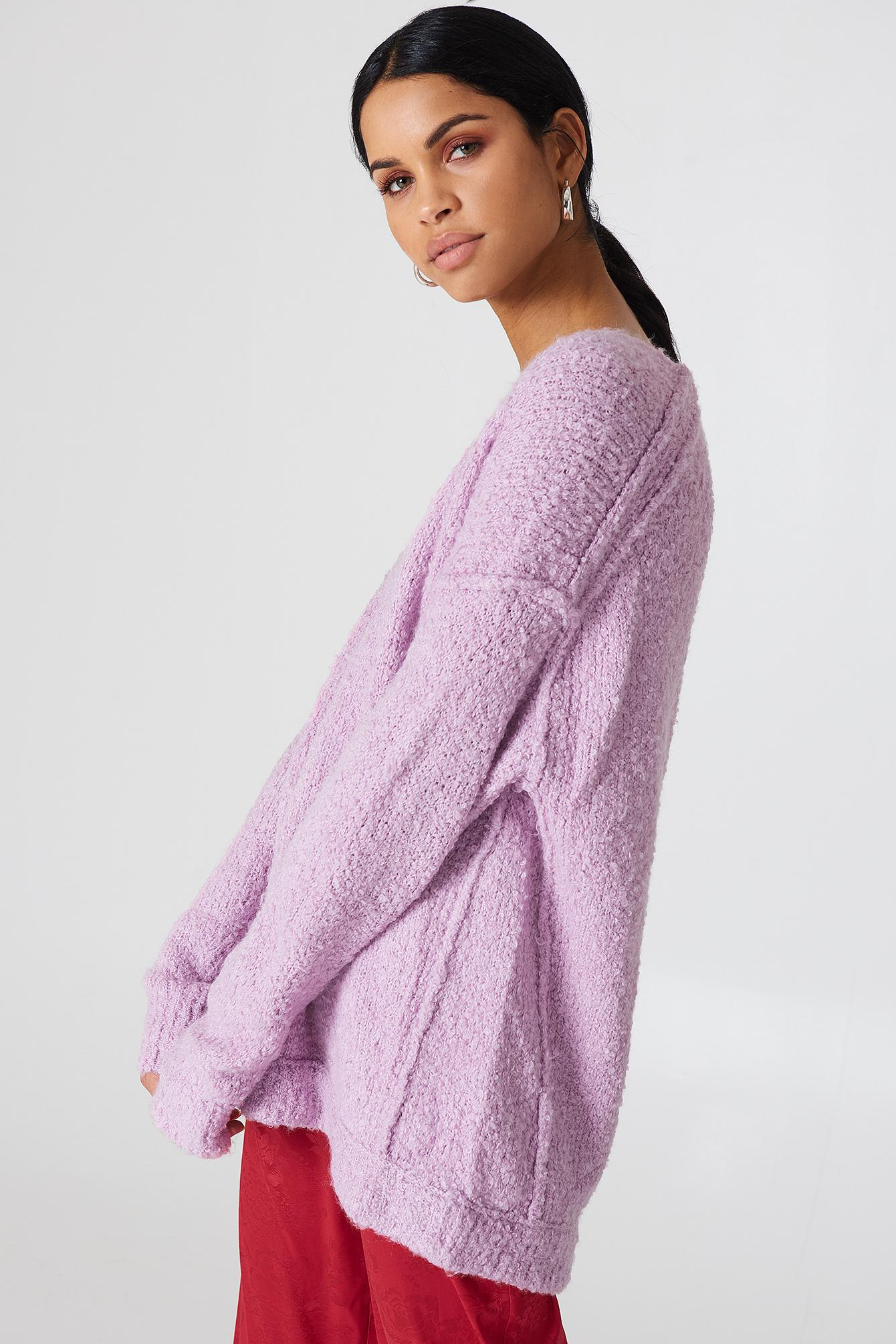 Lyst Free People Lofty V Neck Knit In Purple