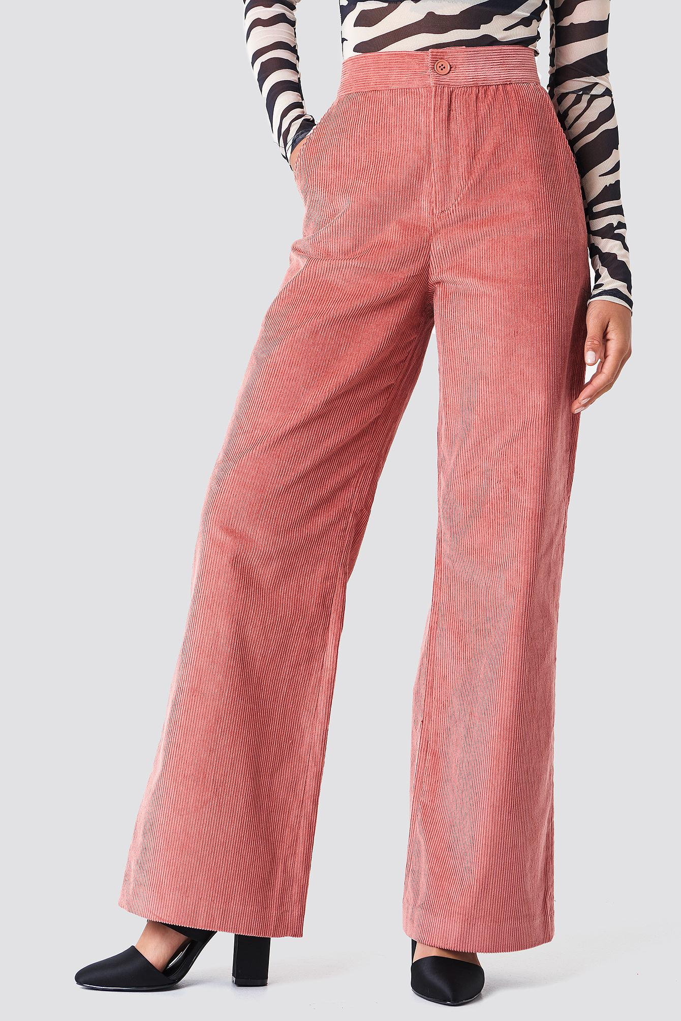 36f91c089a5a7 NA-KD Corduroy Suit Pants Pink in Pink - Lyst