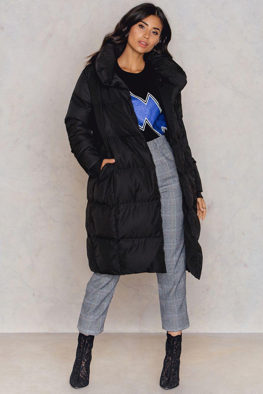 NA-KD Shawl Collar Padded Jacket Prix De Vente À Bas Prix Vendable Vente En Ligne Des Photos Finishline Sortie cYwORDC