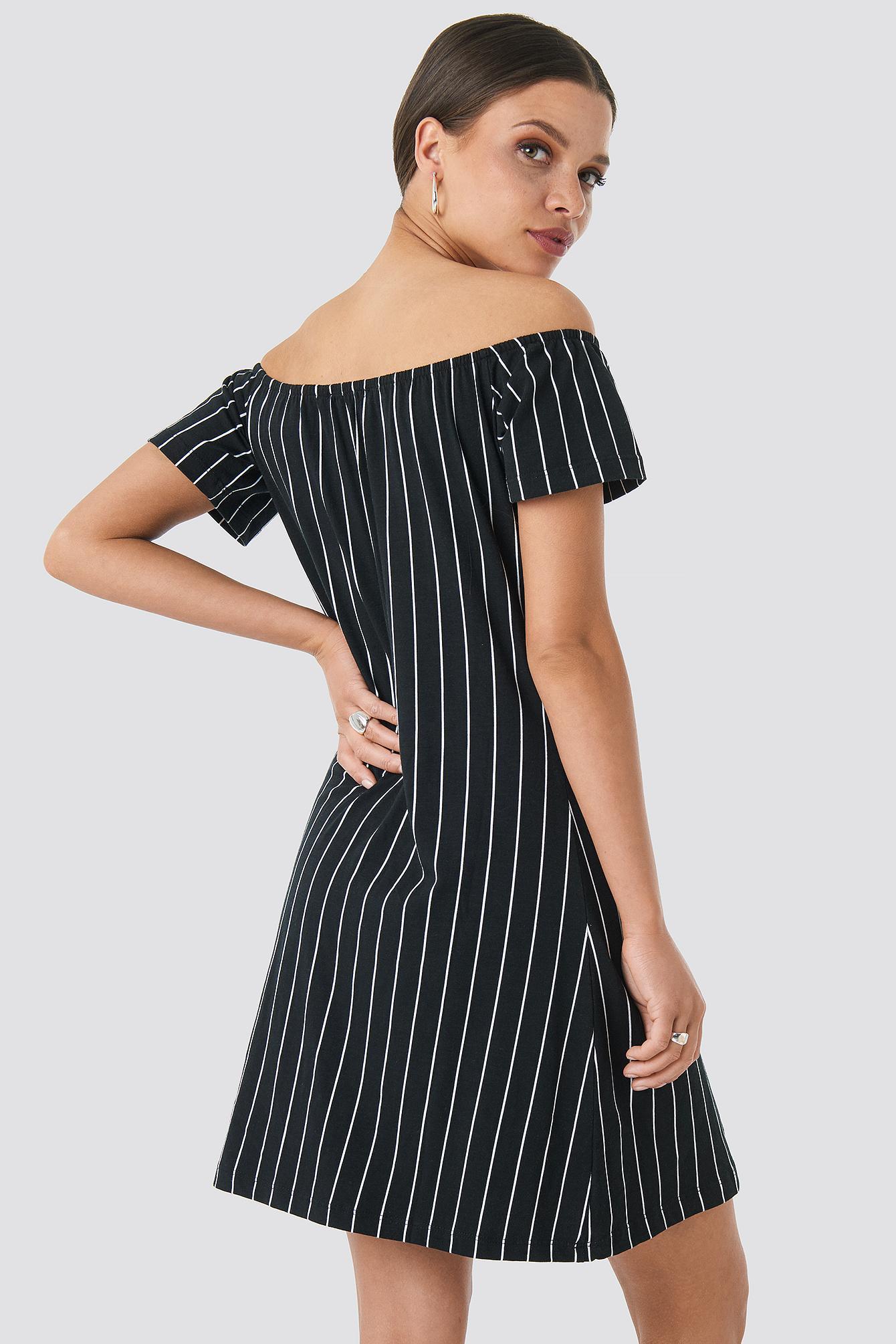476d4d56b38 Trendyol - Yol Striped Mini Dress Black - Lyst. View fullscreen