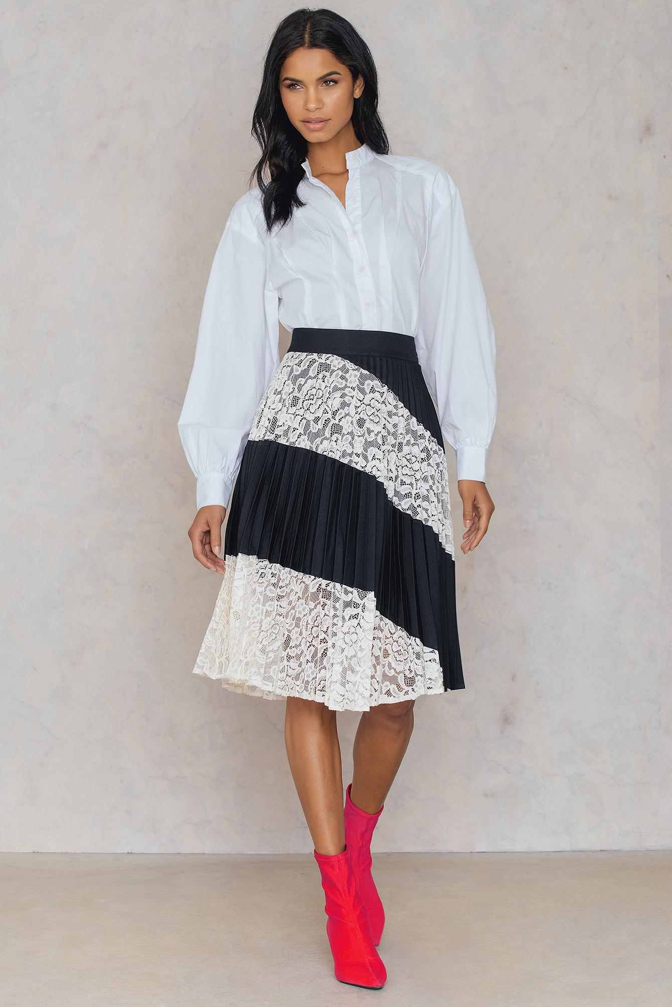 95ac77a6c906c FWSS Heidi Lace Skirt in Black - Lyst