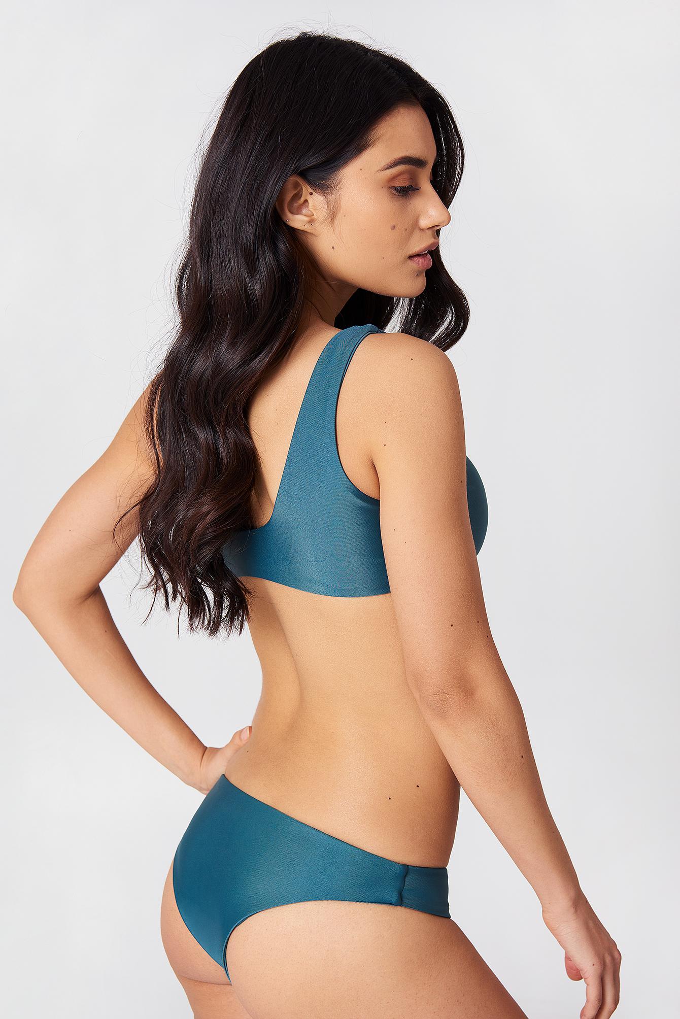 3b5c74be493 Lyst - Hot Anatomy Tie Bikini Top Green in Green - Save 34%