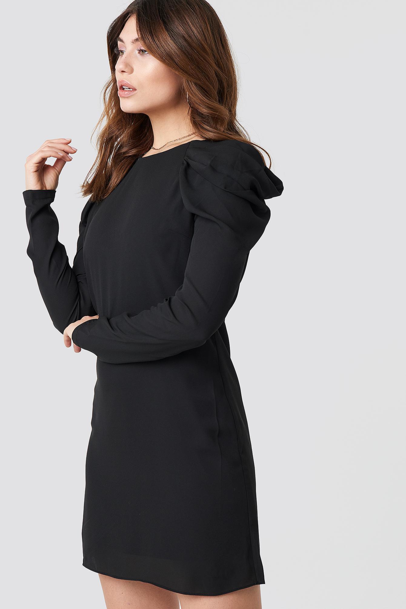 ffb9b36b6c2 Lyst - Trendyol Ruffle Sleeve Mini Dress Black in Black