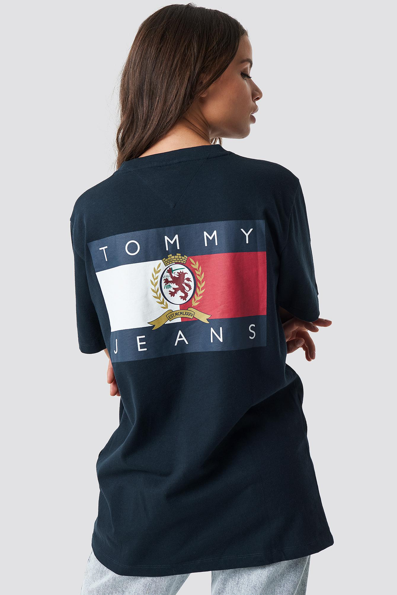 8f348a78 Tommy Hilfiger Crest Flag Tee Dark Sapphire in Blue - Lyst