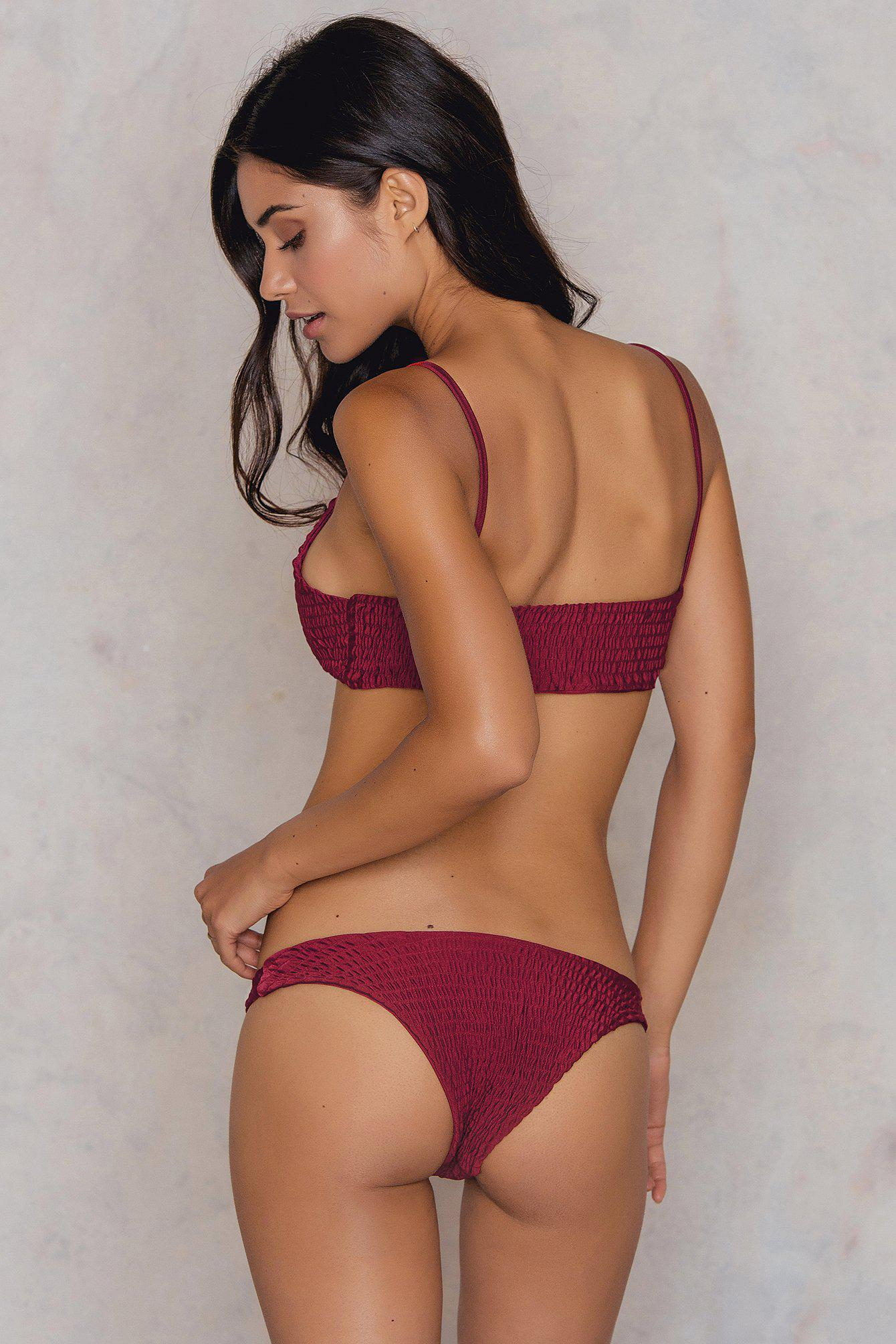 0a4712c64aa14 Hot Anatomy Wrinkled Bikini Top Red in Red - Save 37% - Lyst