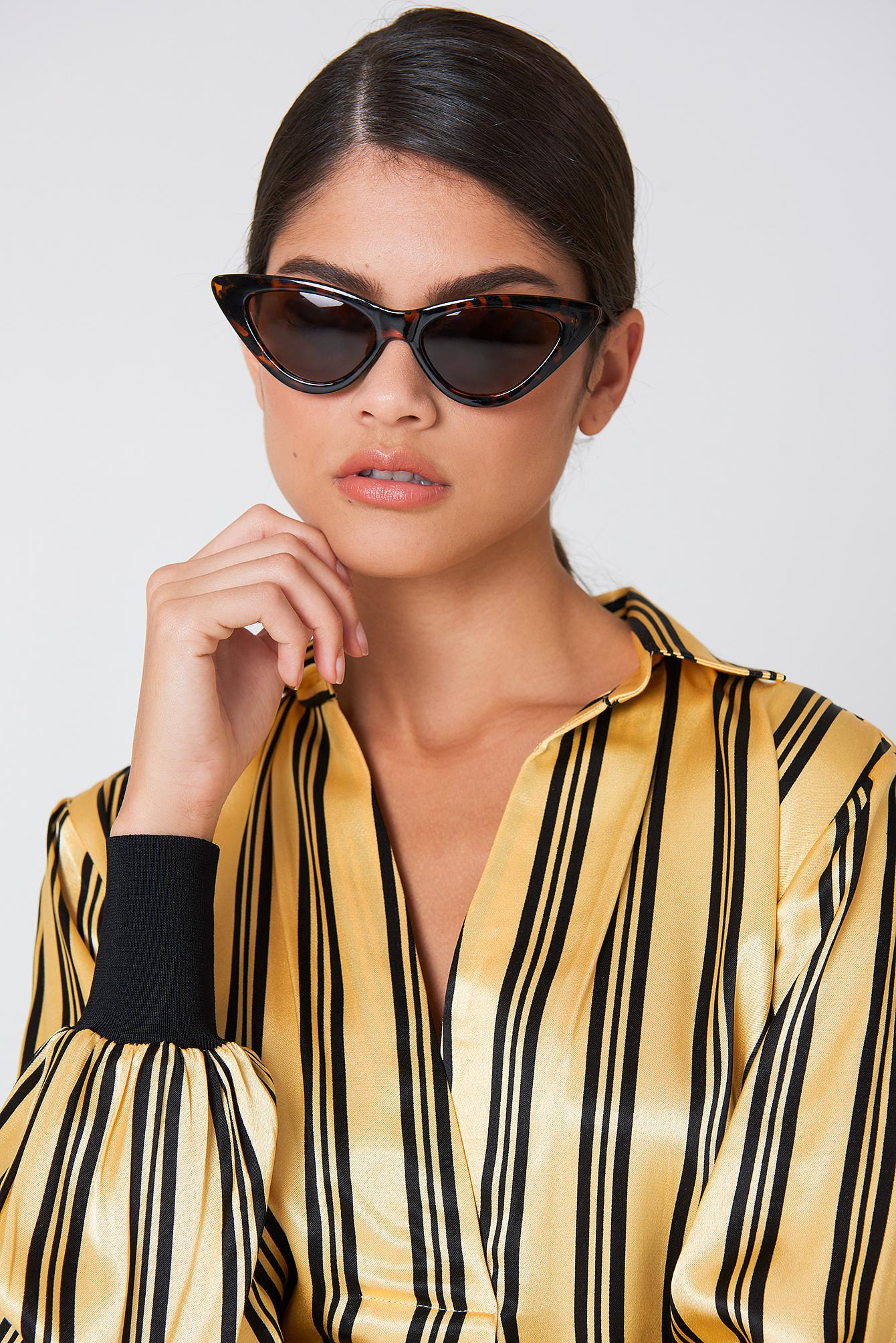 NA-KD Accessories Marble Mirror Sunglasses - Pink nMFiHTt