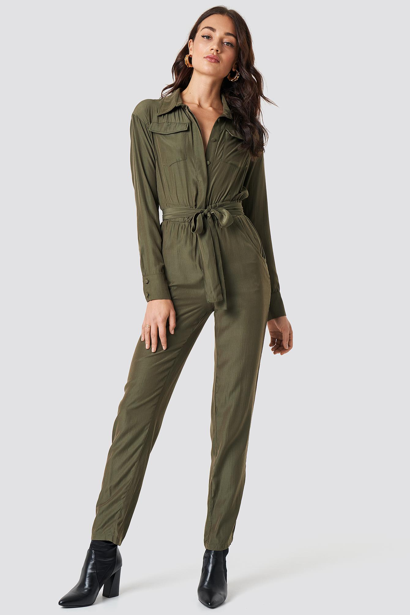 c285c665432 Lioness - Green Lara Jumpsuit Khaki - Lyst. View fullscreen