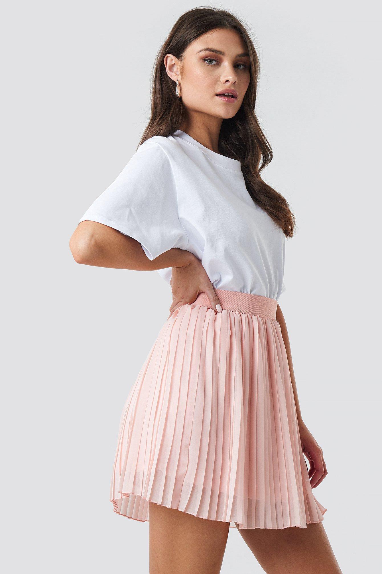 cbd7a64510 NA-KD - Mini Pleated Skirt Pink - Lyst. View fullscreen