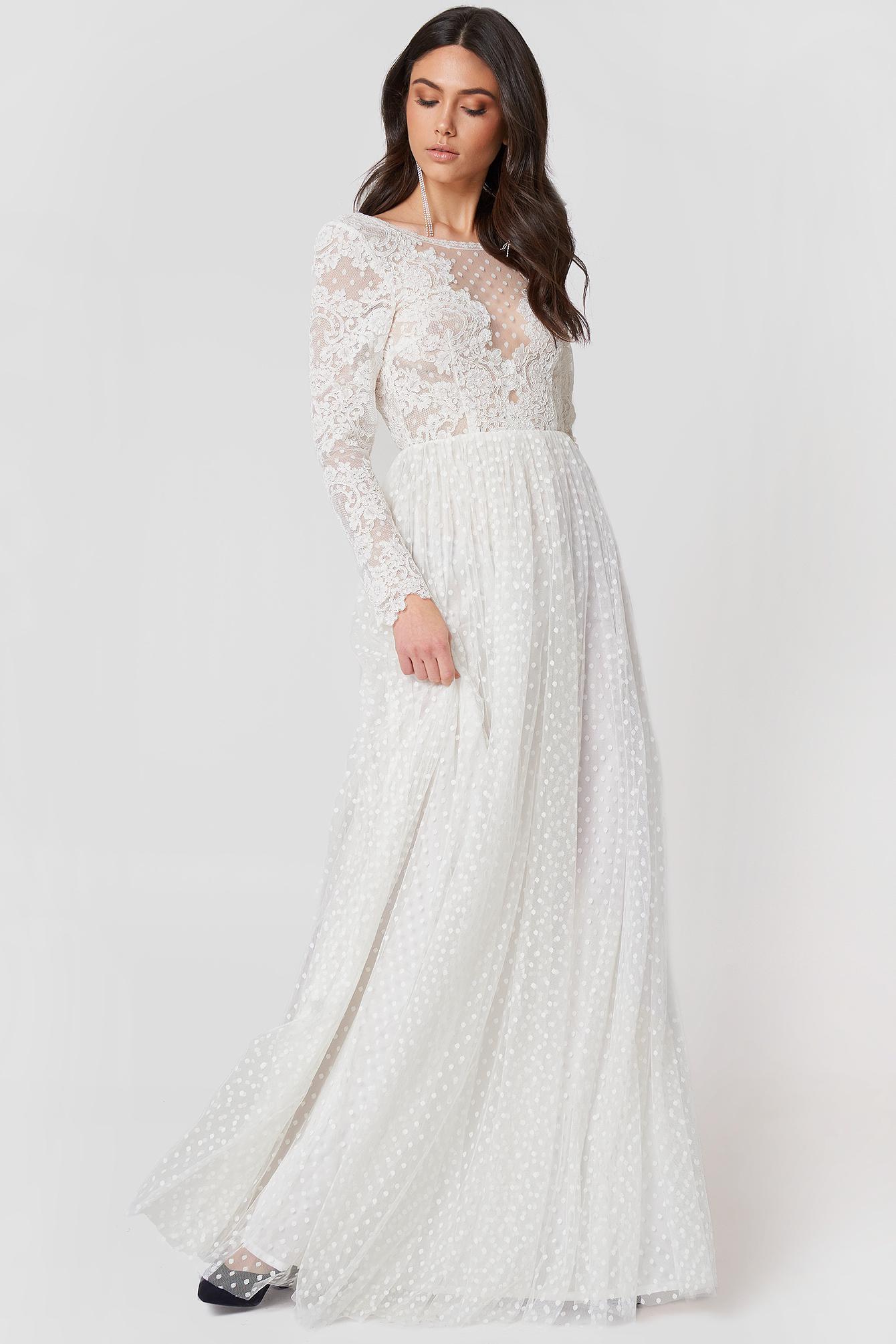 Lyst - Ida Sjöstedt Jemima Dress Ivory in White 2f8a10aafc1e4
