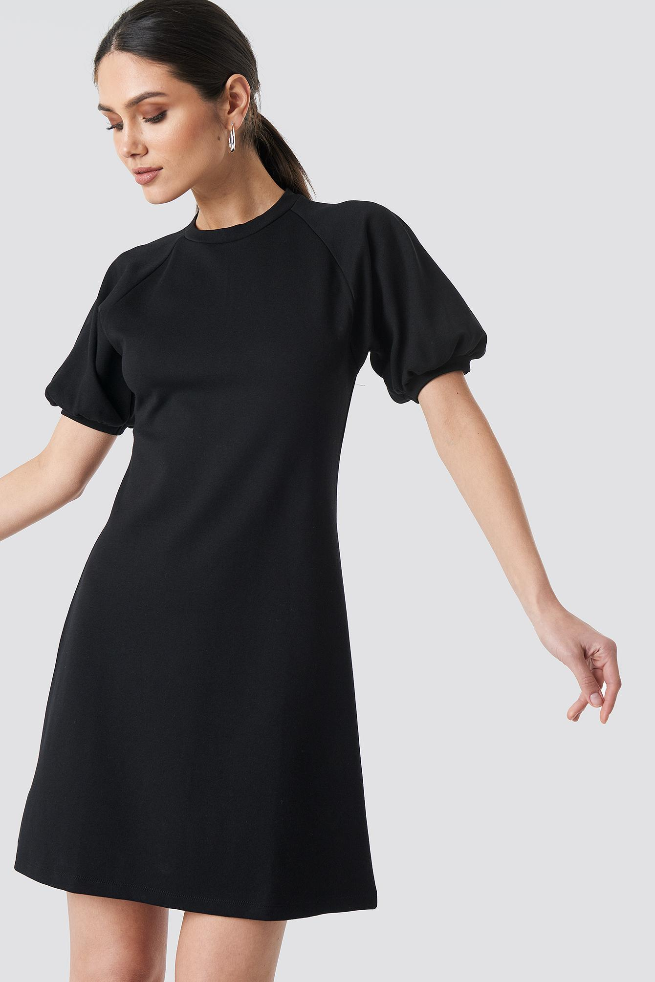 cde37ce1acfcd Lyst - Trendyol Balloon Sleeve Knitted Dress Black in Black