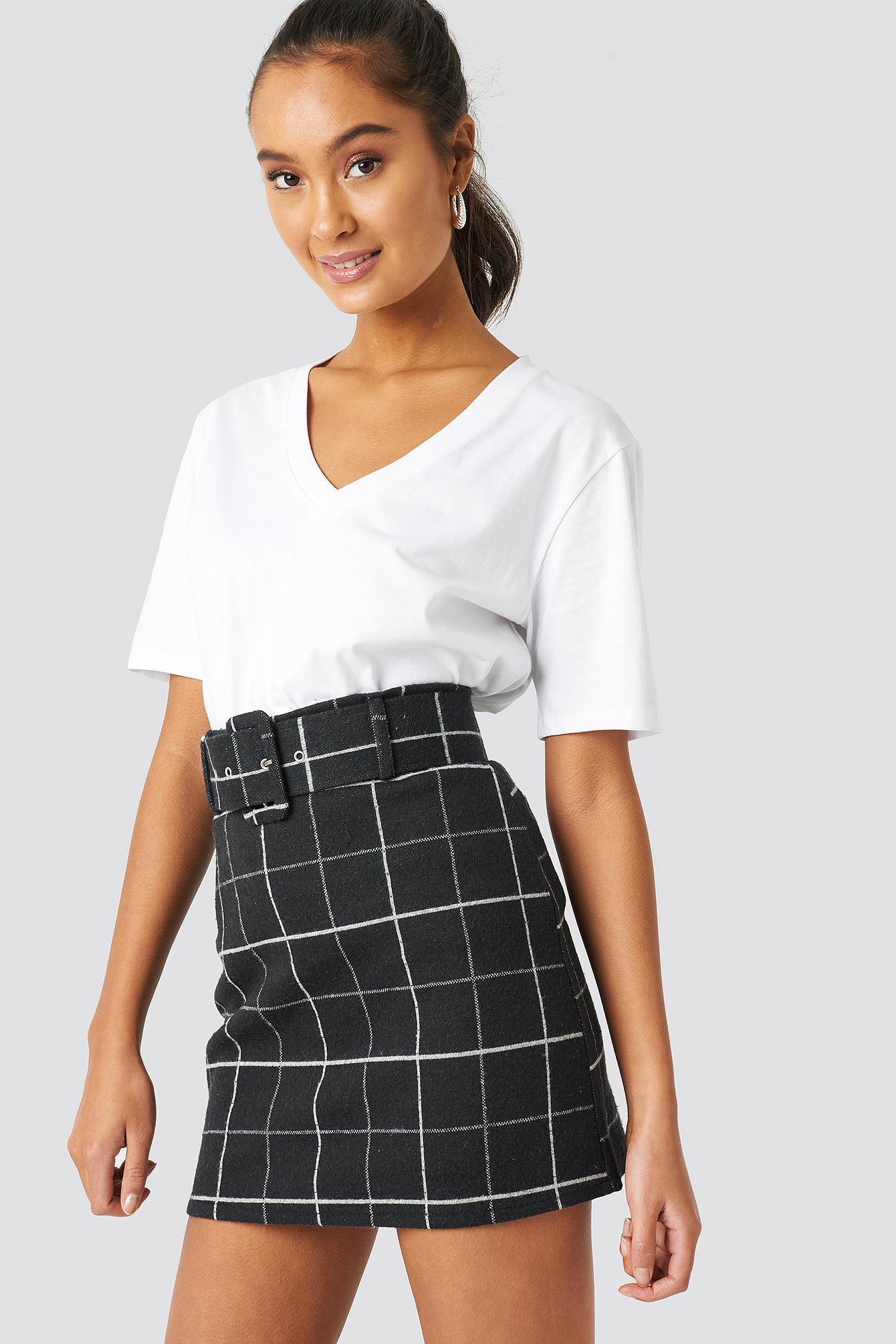 7051cdcf83 Trendyol Checkered Mini Skirt Black in Black - Lyst