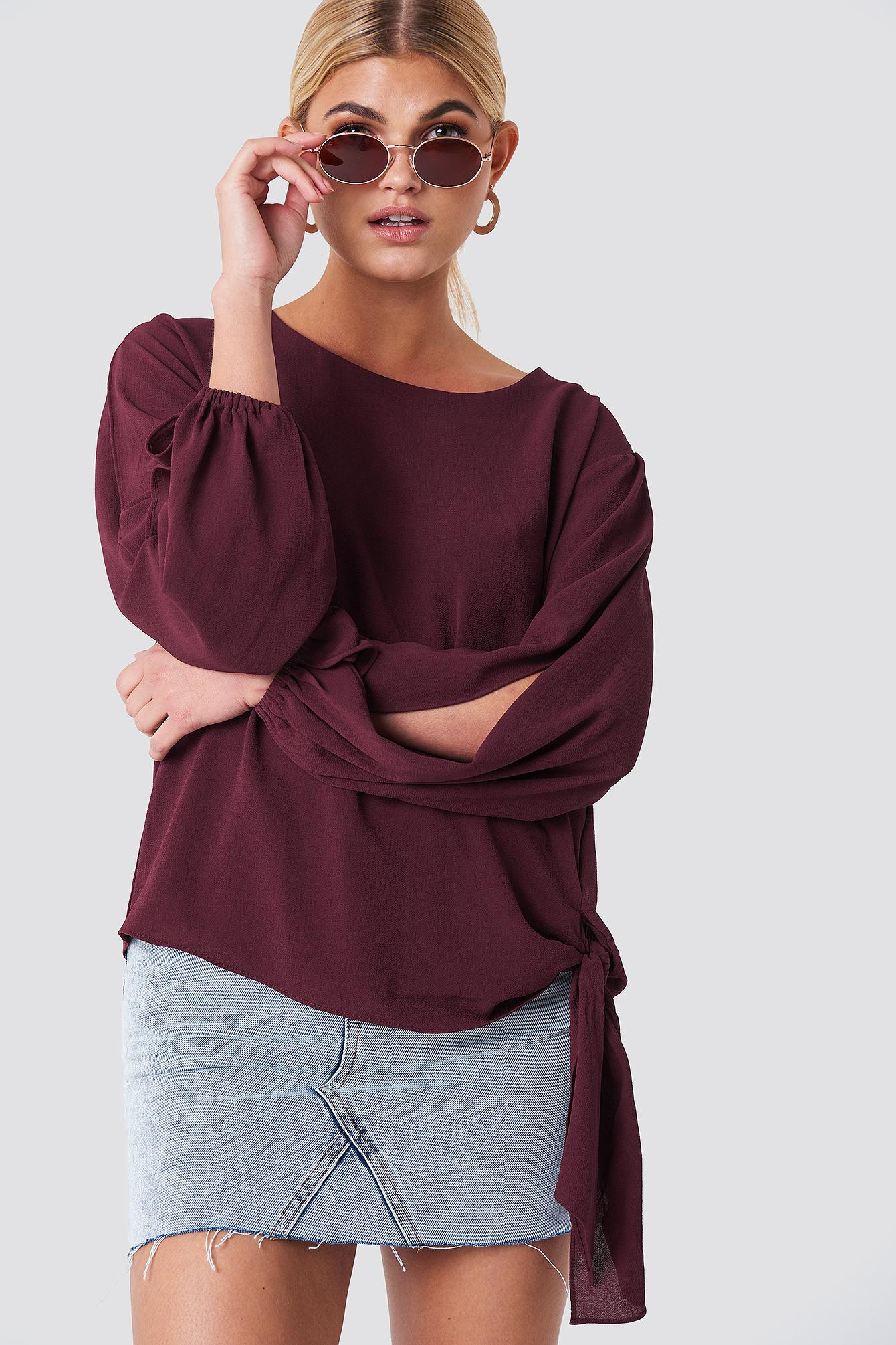 688742718ebb2 Rut Circle. Women s Amera Open Sleeve Blouse Wine Red. £29 From NA-KD