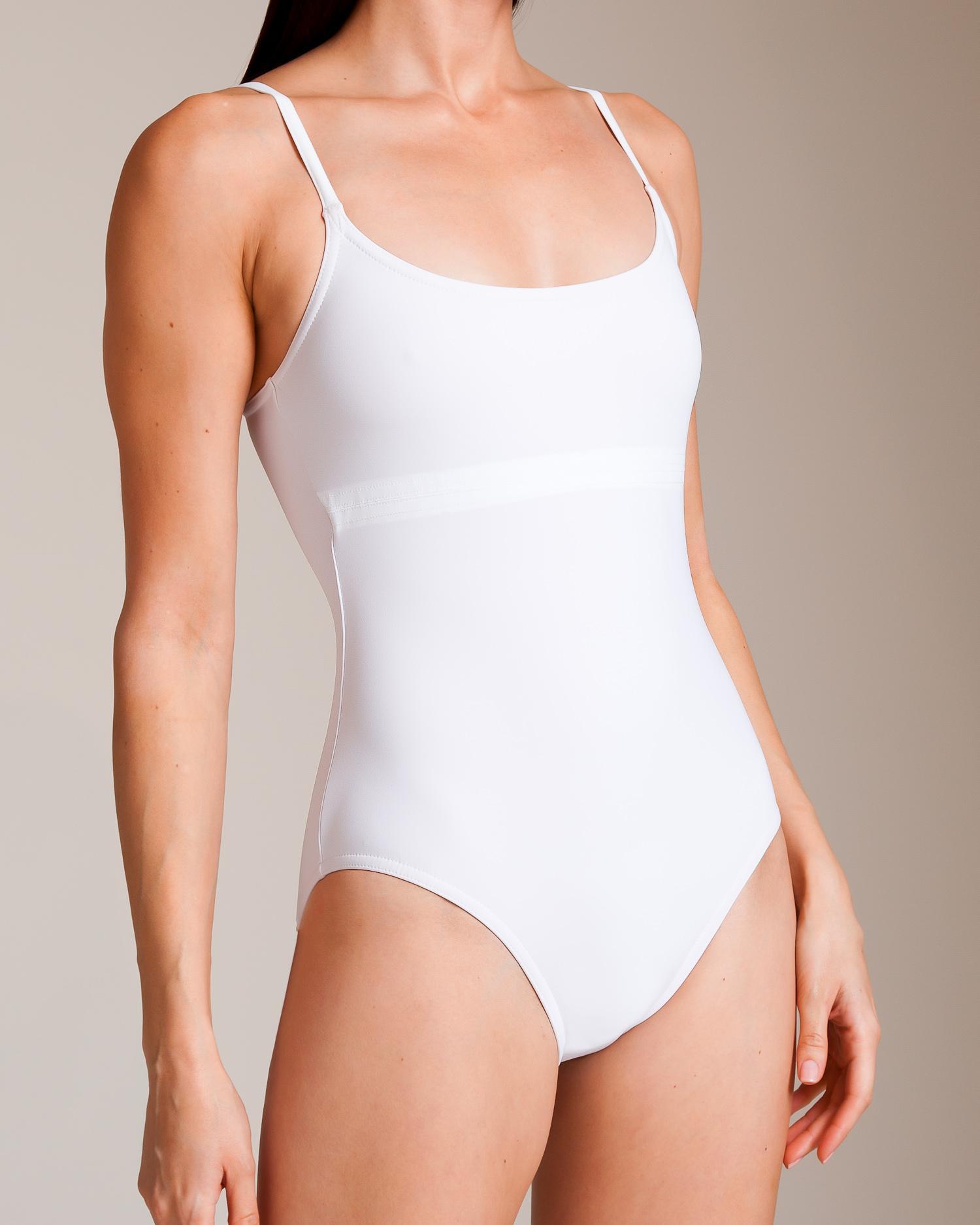1de8a5a487 Lyst - Karla Colletto Basic Shelf Bra Swimsuit in White