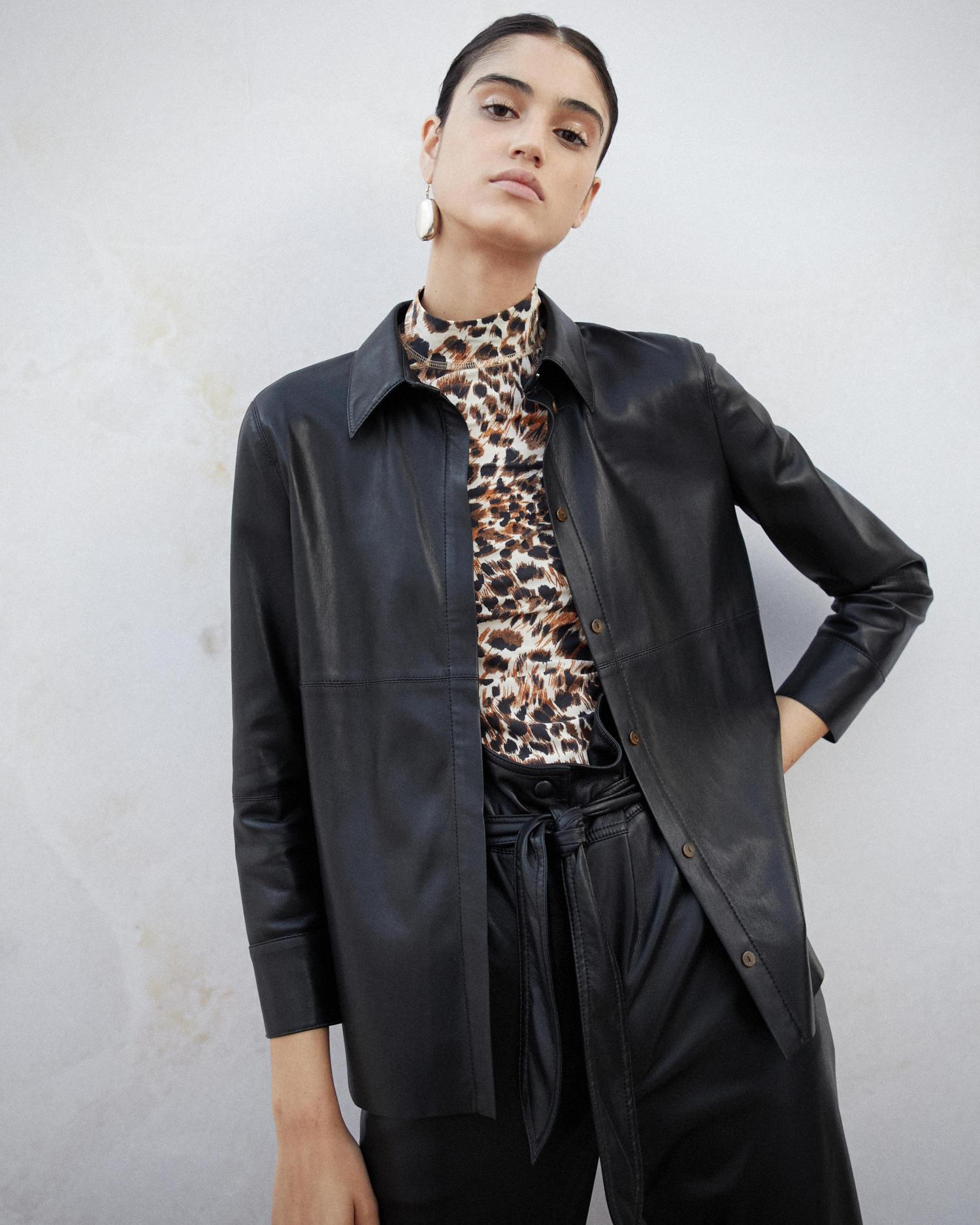 12908f326e8f88 Nanushka Vegan Leather Shirt in Black - Lyst
