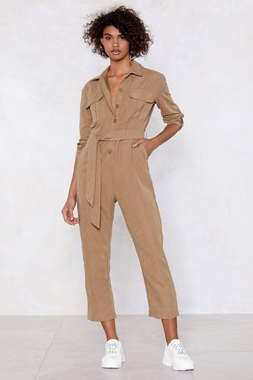08f1e0ac5c44 Nasty Gal Utility Slaying This Jumpsuit in Natural - Lyst