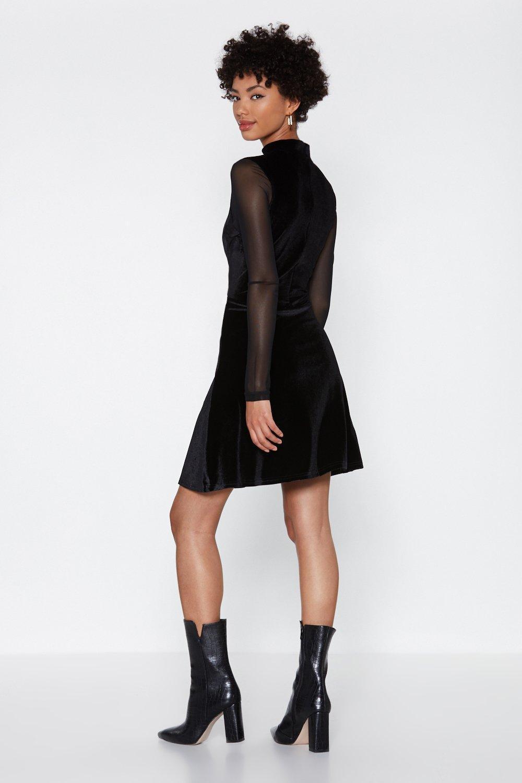 Nasty Gal Quot Swing Dance Velvet Dress Quot In Black Lyst